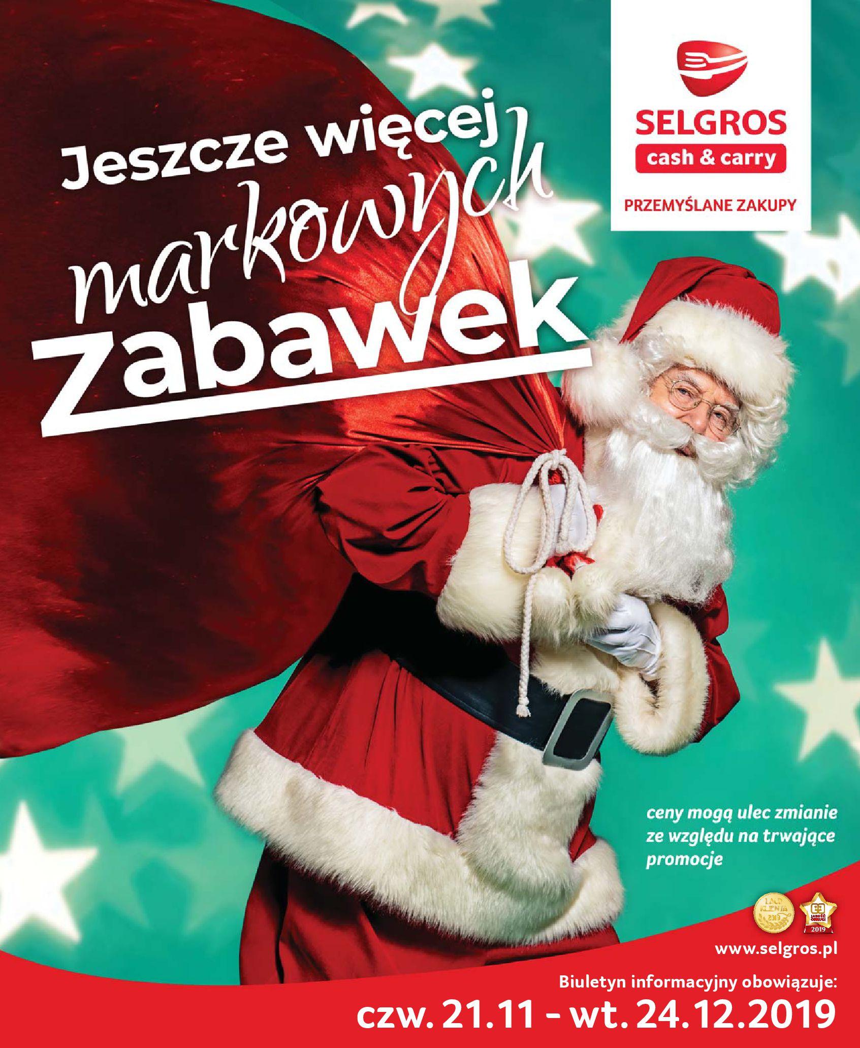 Gazetka Selgros - Katalog zabawek-20.11.2019-24.12.2019-page-1