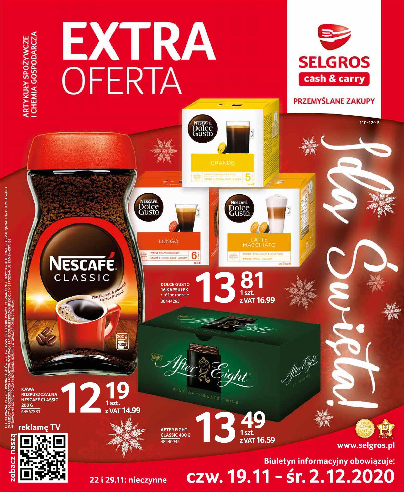 Gazetka Selgros - Extra Oferta-18.11.2020-02.12.2020-page-1