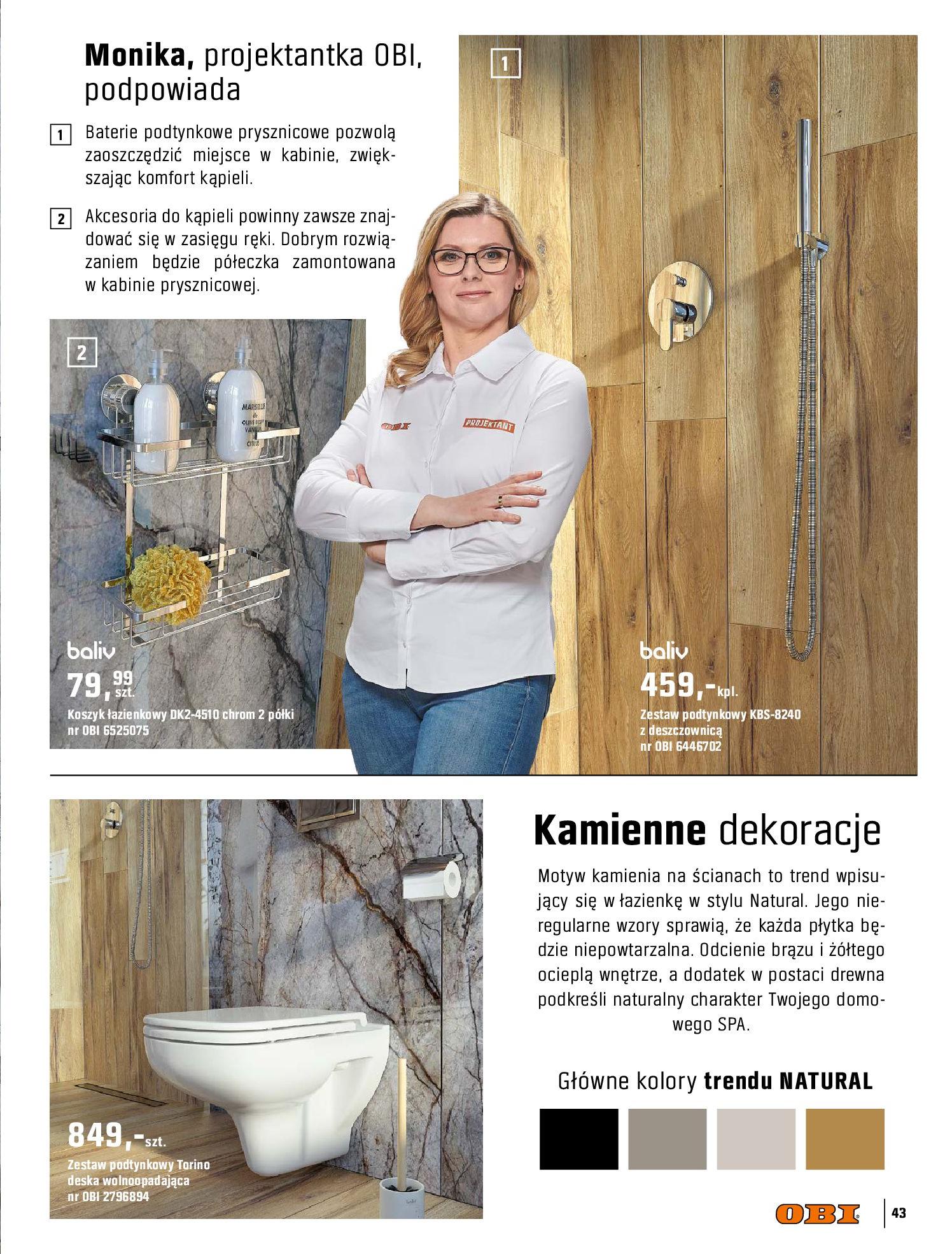 Gazetka OBI: Katalog OBI - Łazienka Trendy 2021 2021-05-25 page-43