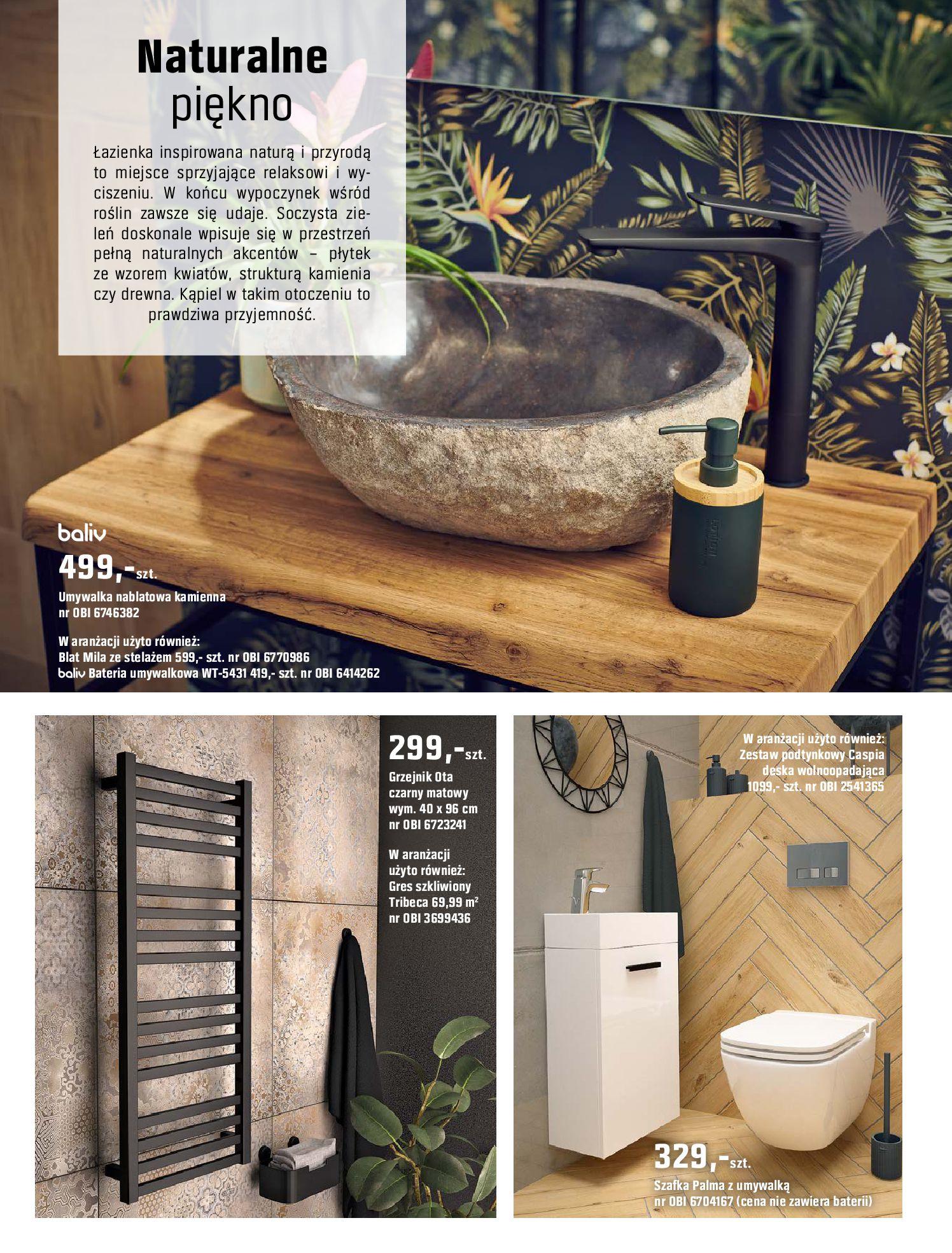 Gazetka OBI: Katalog OBI - Łazienka Trendy 2021 2021-05-25 page-46