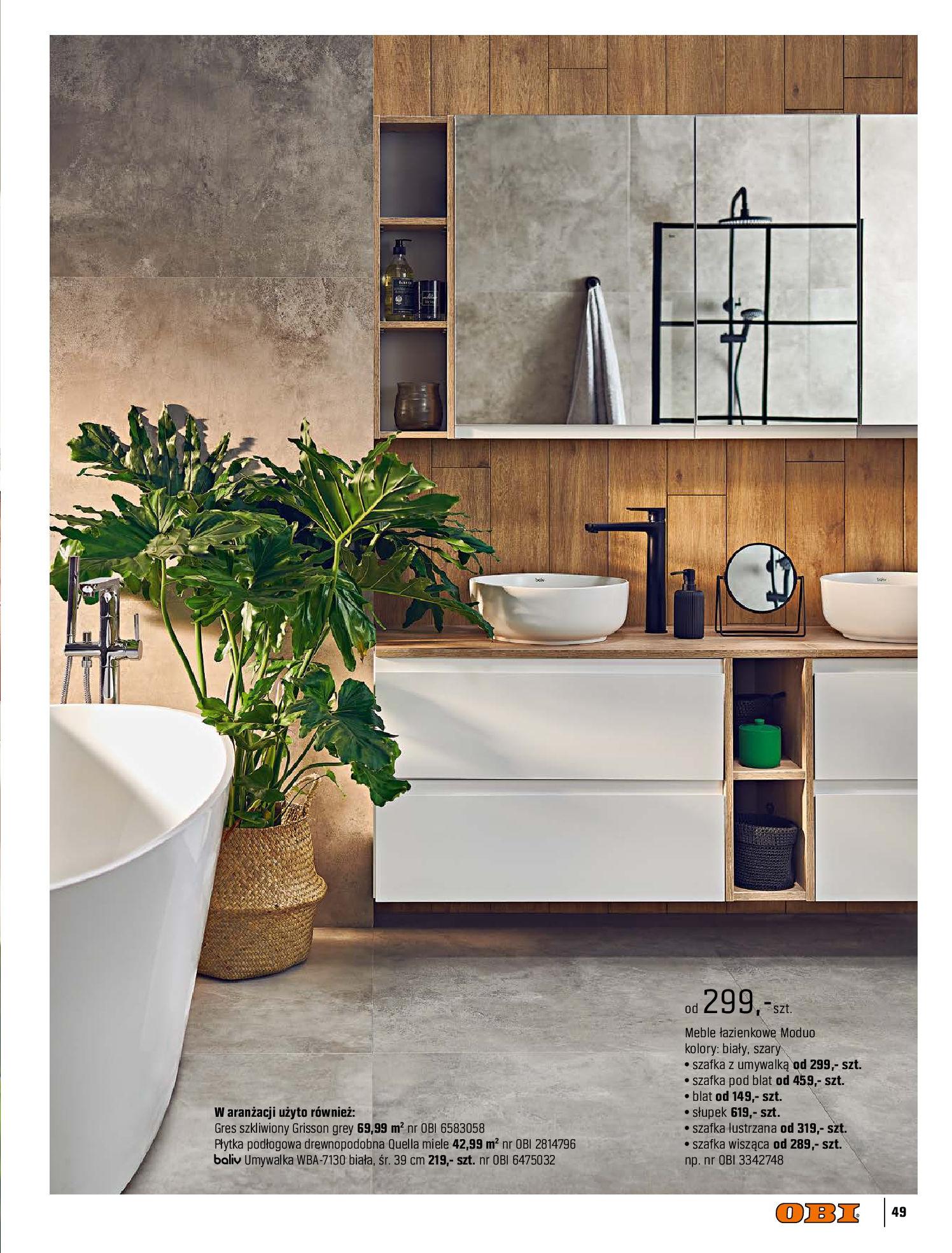 Gazetka OBI: Katalog OBI - Łazienka Trendy 2021 2021-05-25 page-49
