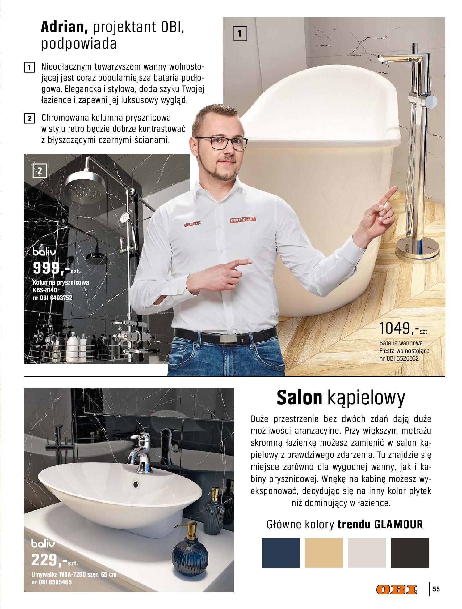 Gazetka OBI: Katalog OBI - Łazienka Trendy 2021 2021-05-25 page-55