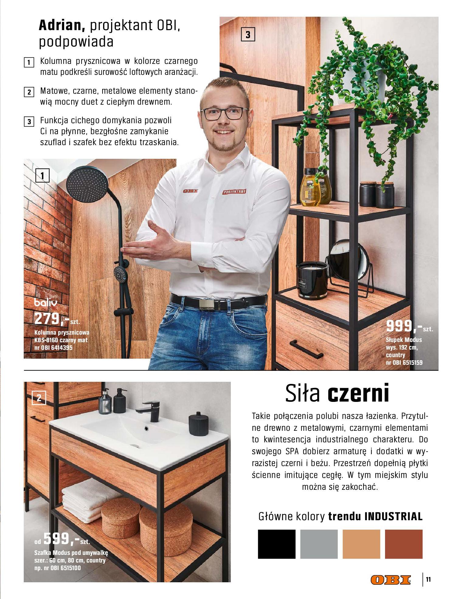 Gazetka OBI: Katalog OBI - Łazienka Trendy 2021 2021-05-25 page-11