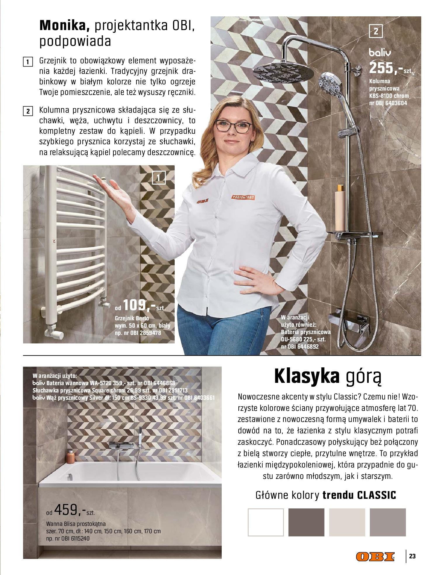 Gazetka OBI: Katalog OBI - Łazienka Trendy 2021 2021-05-25 page-23