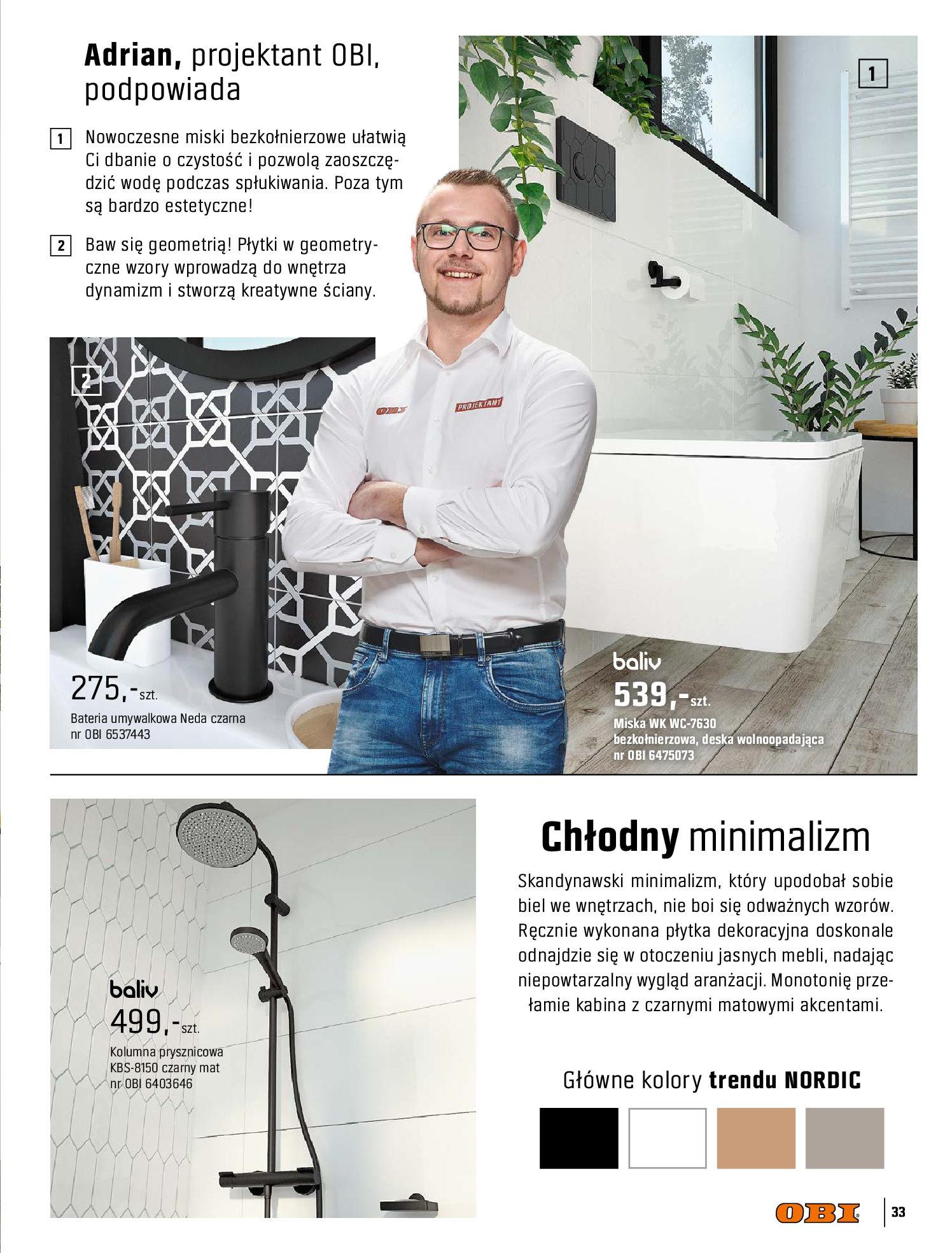 Gazetka OBI: Katalog OBI - Łazienka Trendy 2021 2021-05-25 page-33