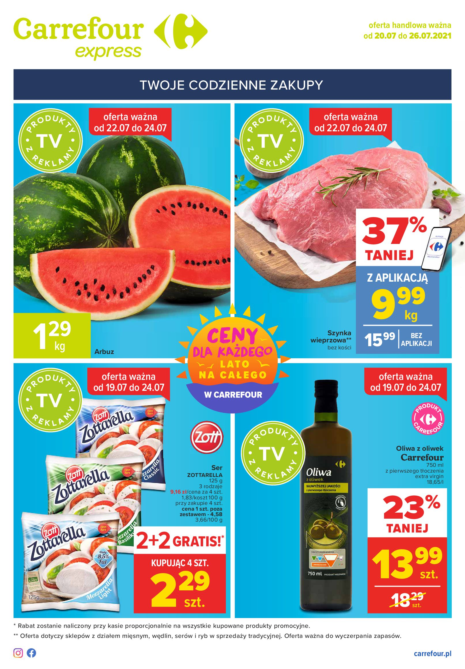 Gazetka Carrefour Express: Gazetka Carrefour Express 20-26.07 2021-07-20 page-1