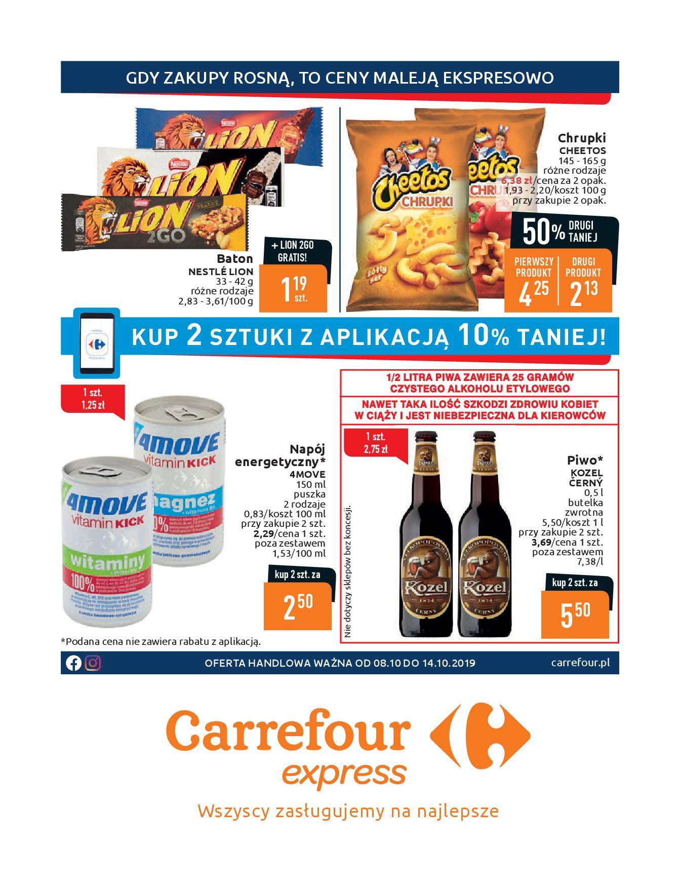 Gazetka Carrefour Express - Gdy zakupy rosną, to ceny maleją ekspresowo-07.10.2019-14.10.2019-page-1