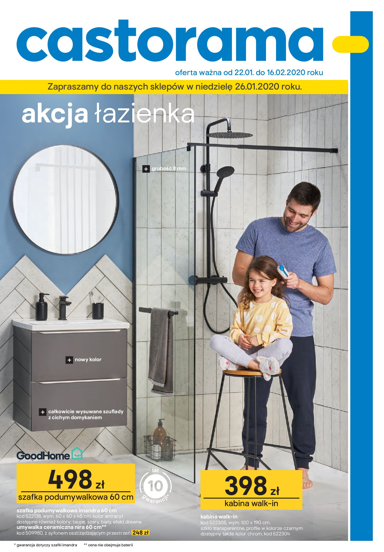 Gazetka Castorama - Akcja łazienka-21.01.2020-16.02.2020-page-1