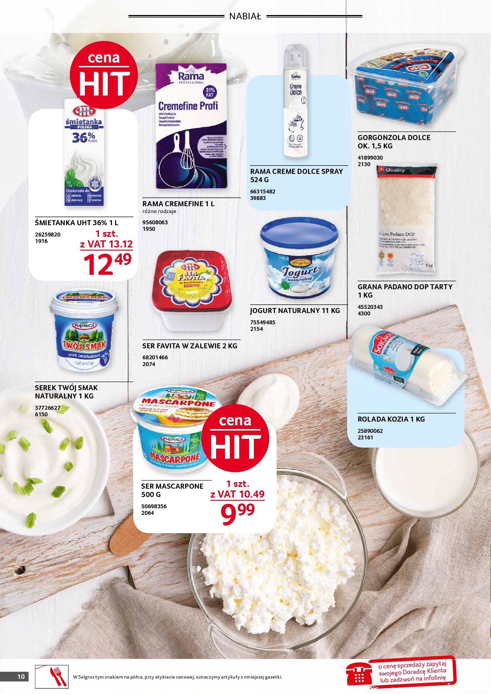 Gazetka Selgros: Gazetka Selgros - Gastronomia 2021-08-01 page-10