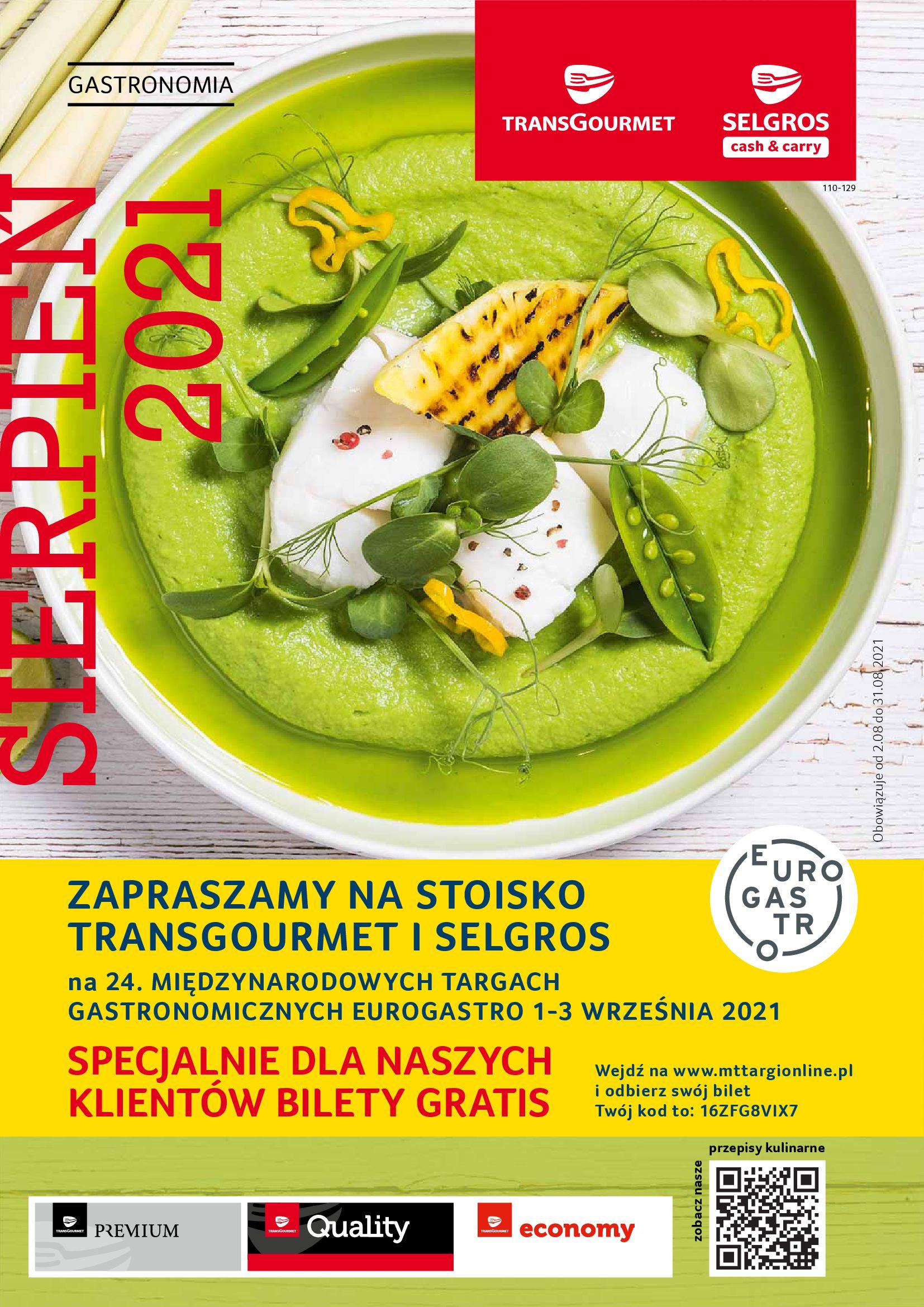 Gazetka Selgros: Gazetka Selgros - Gastronomia 2021-08-01 page-1