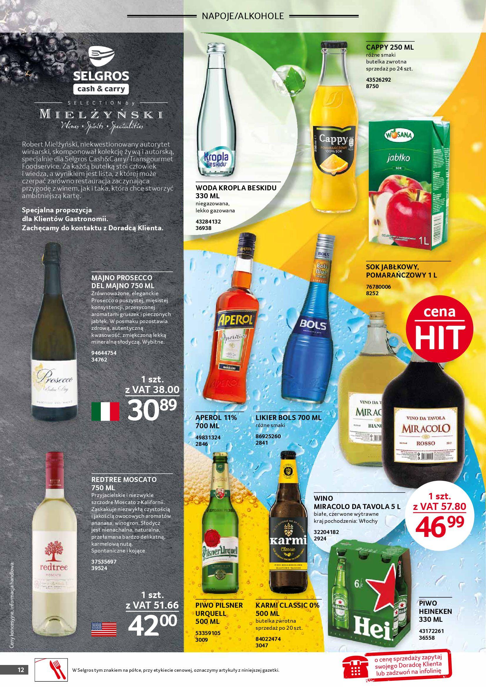 Gazetka Selgros: Gazetka Selgros - Gastronomia 2021-08-01 page-12