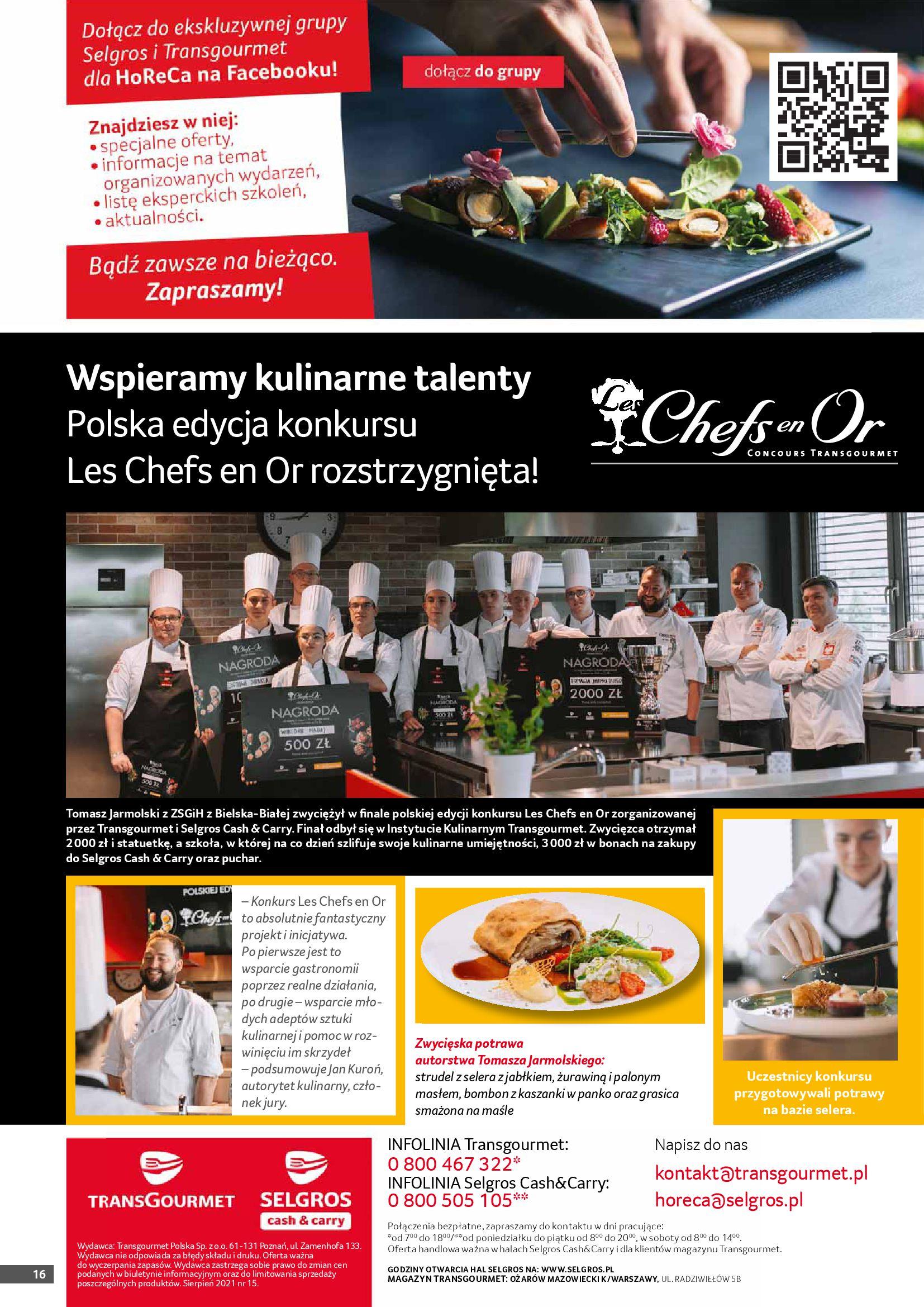 Gazetka Selgros: Gazetka Selgros - Gastronomia 2021-08-01 page-16