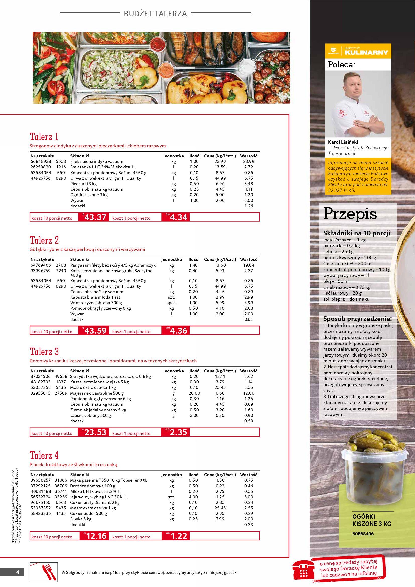 Gazetka Selgros: Gazetka Selgros - Gastronomia 2021-08-01 page-4