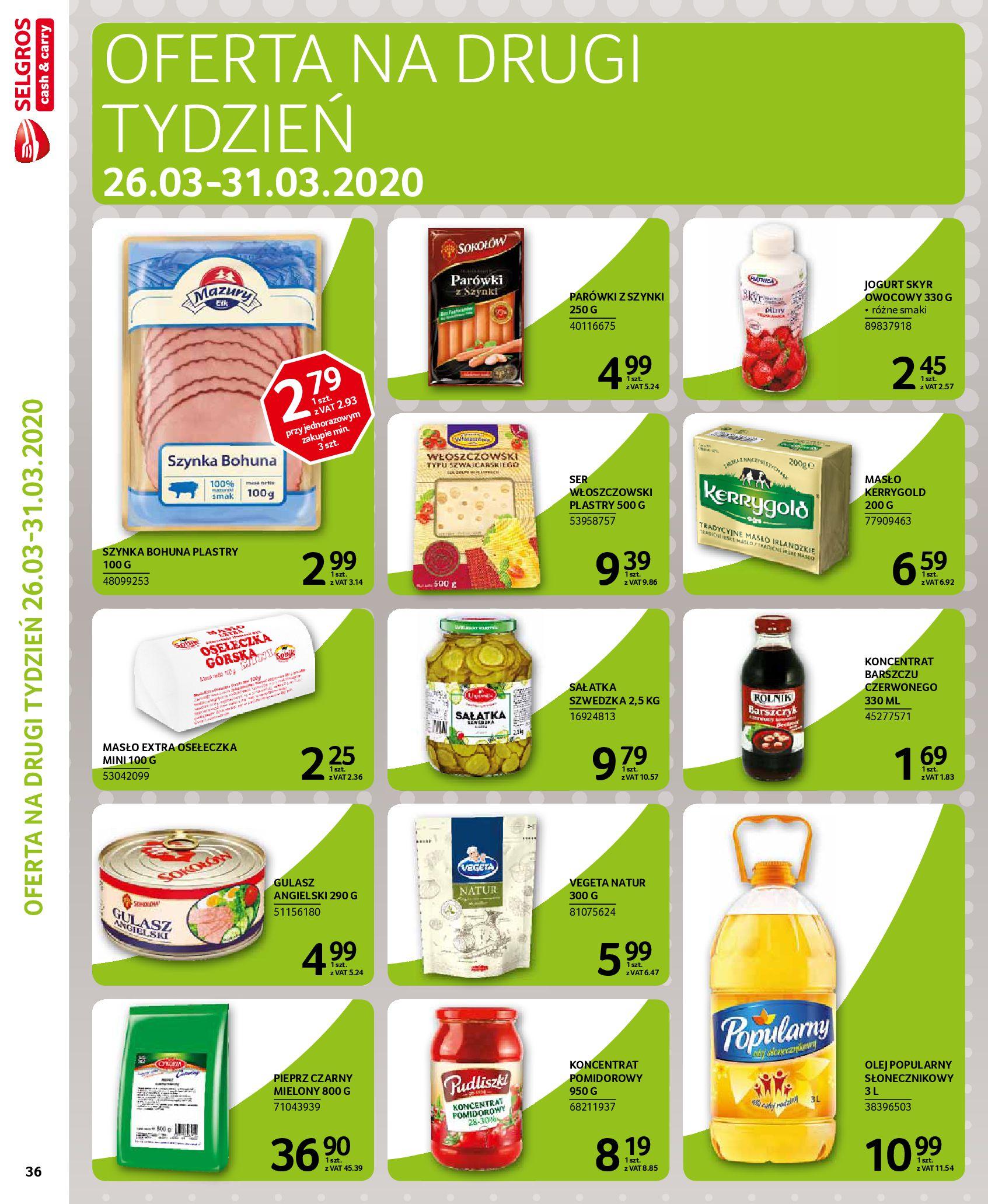 Gazetka Selgros - Extra oferta-18.03.2020-31.03.2020-page-36