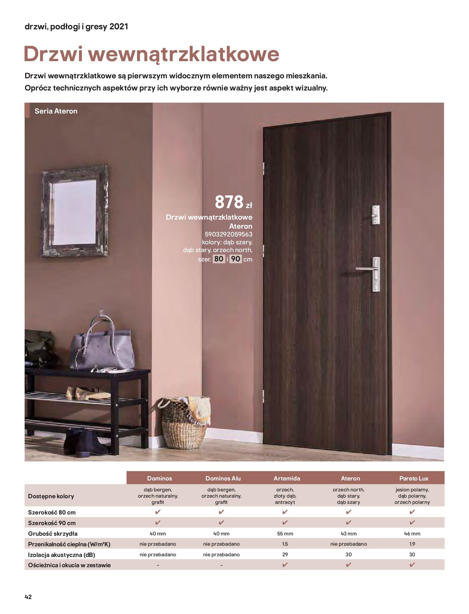 Gazetka Castorama: Gazetka Castorama - Przewodnik drzwi i podłogi 2021 2021-08-11 page-42