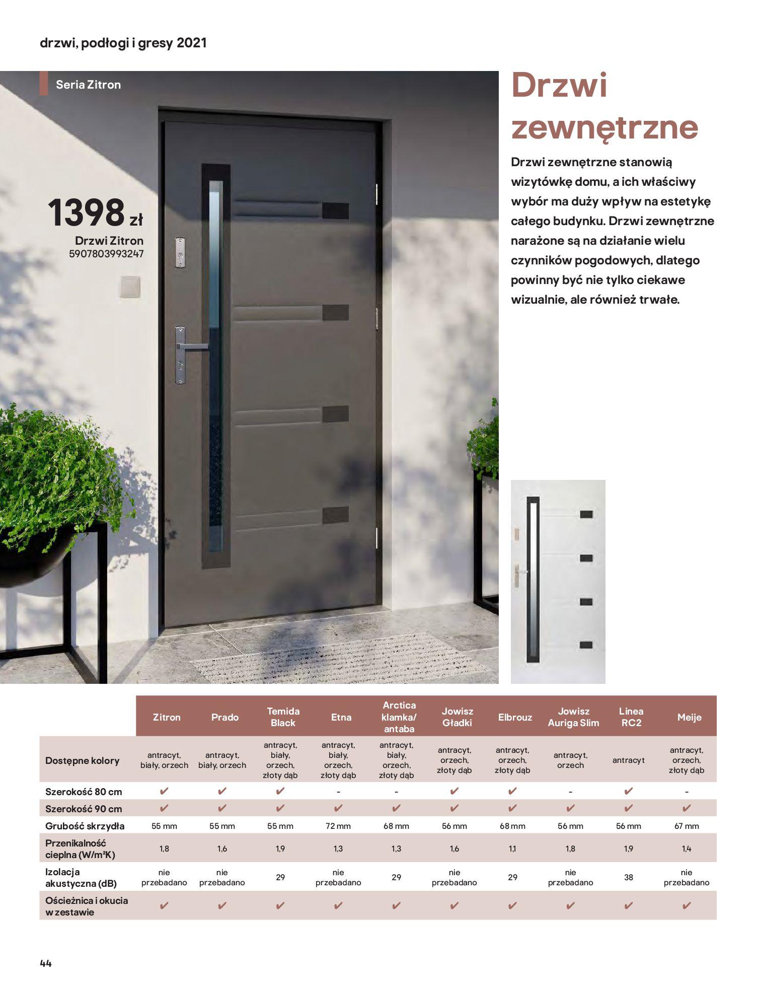 Gazetka Castorama: Gazetka Castorama - Przewodnik drzwi i podłogi 2021 2021-08-11 page-44