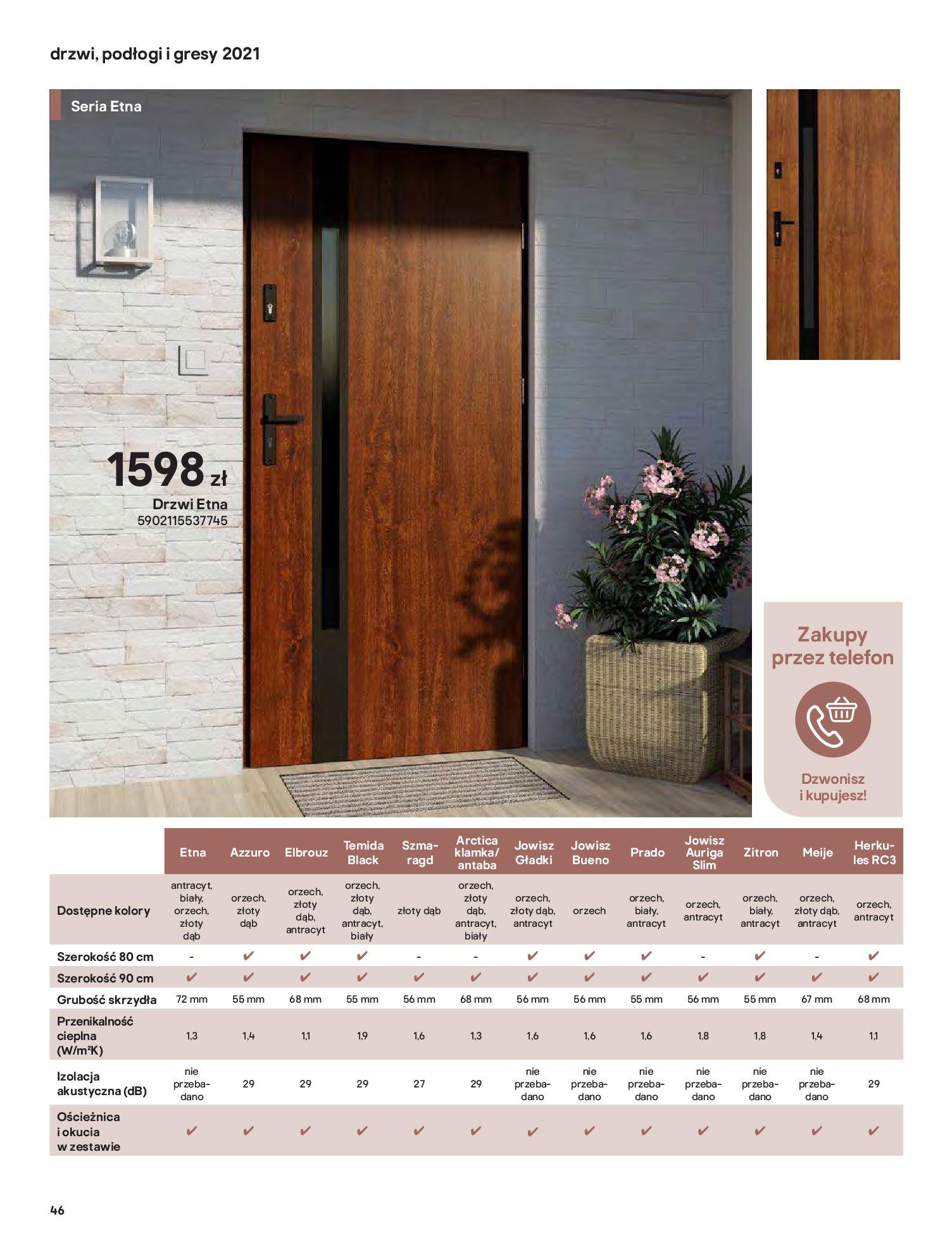 Gazetka Castorama: Gazetka Castorama - Przewodnik drzwi i podłogi 2021 2021-08-11 page-46