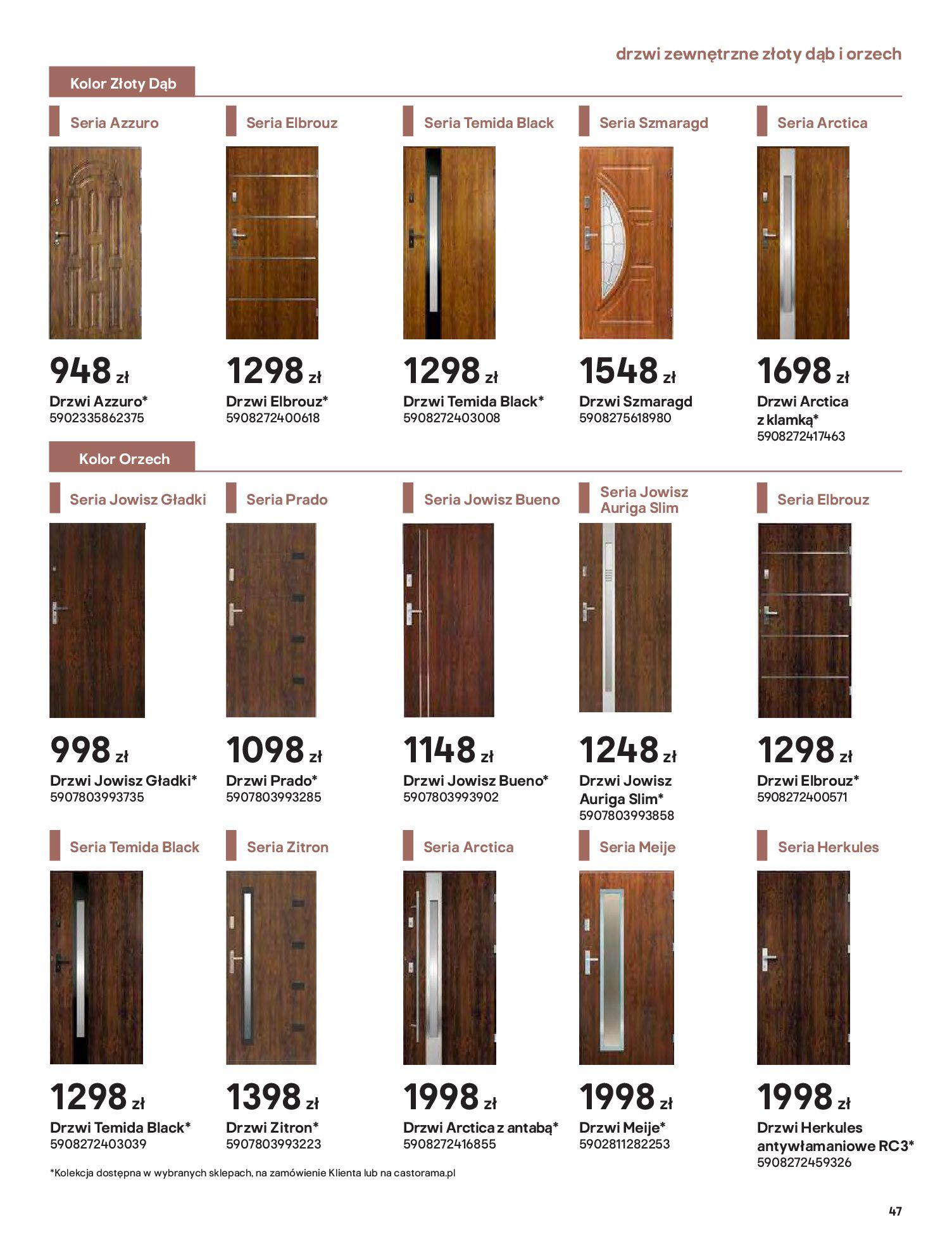 Gazetka Castorama: Gazetka Castorama - Przewodnik drzwi i podłogi 2021 2021-08-11 page-47