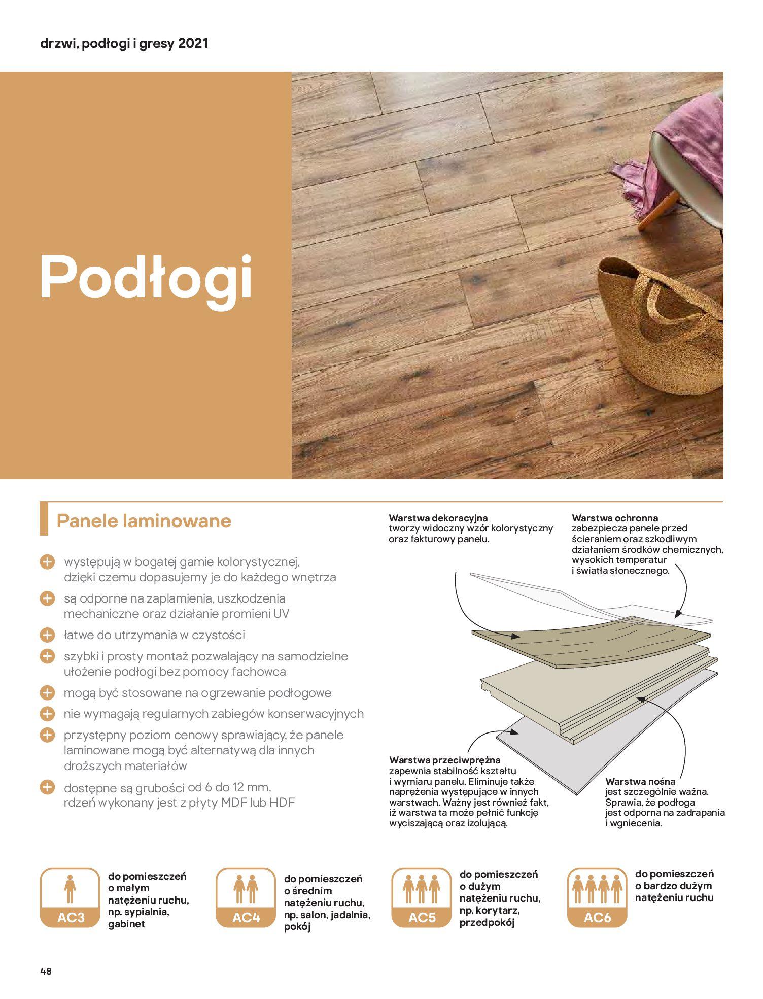 Gazetka Castorama: Gazetka Castorama - Przewodnik drzwi i podłogi 2021 2021-08-11 page-48