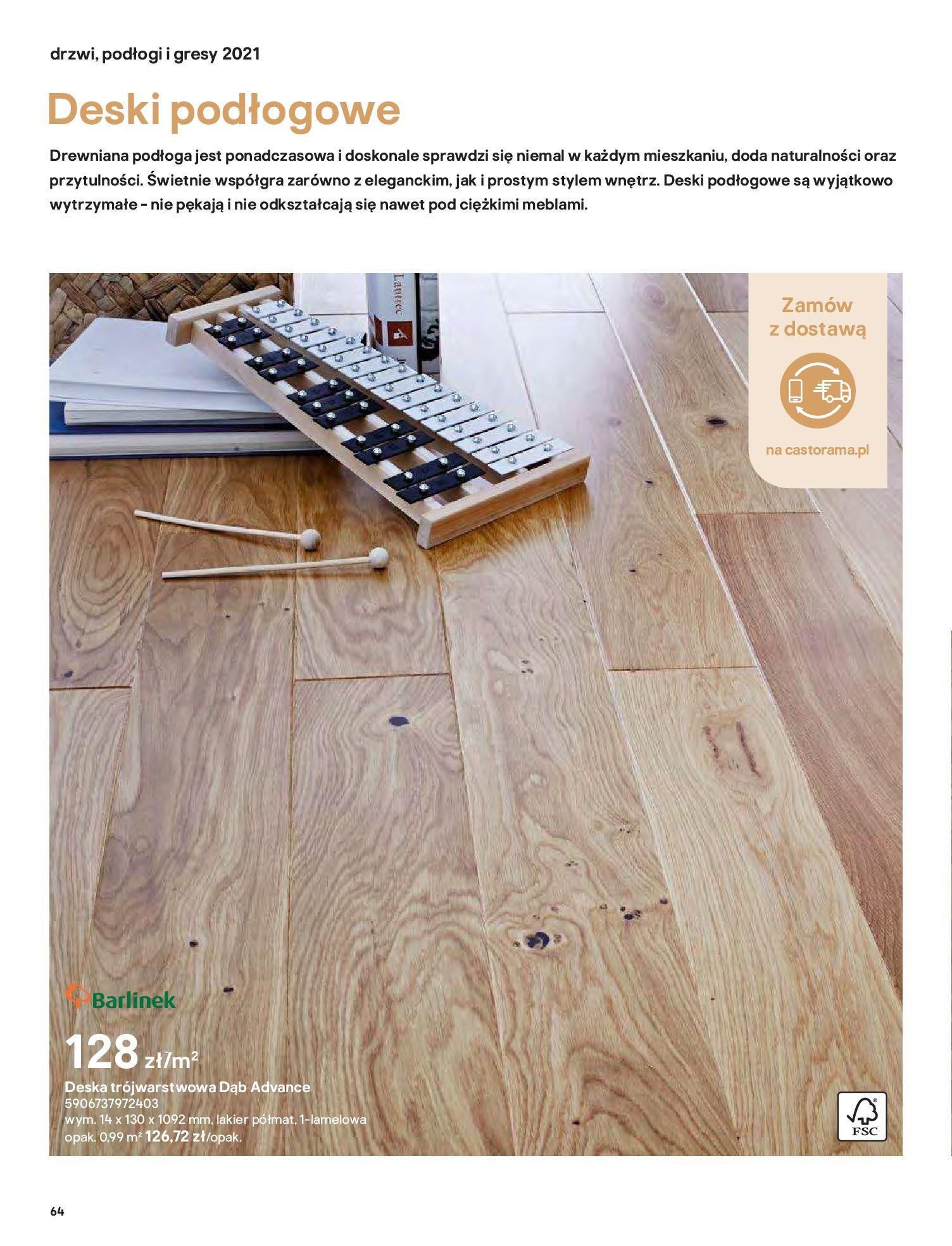 Gazetka Castorama: Gazetka Castorama - Przewodnik drzwi i podłogi 2021 2021-08-11 page-64