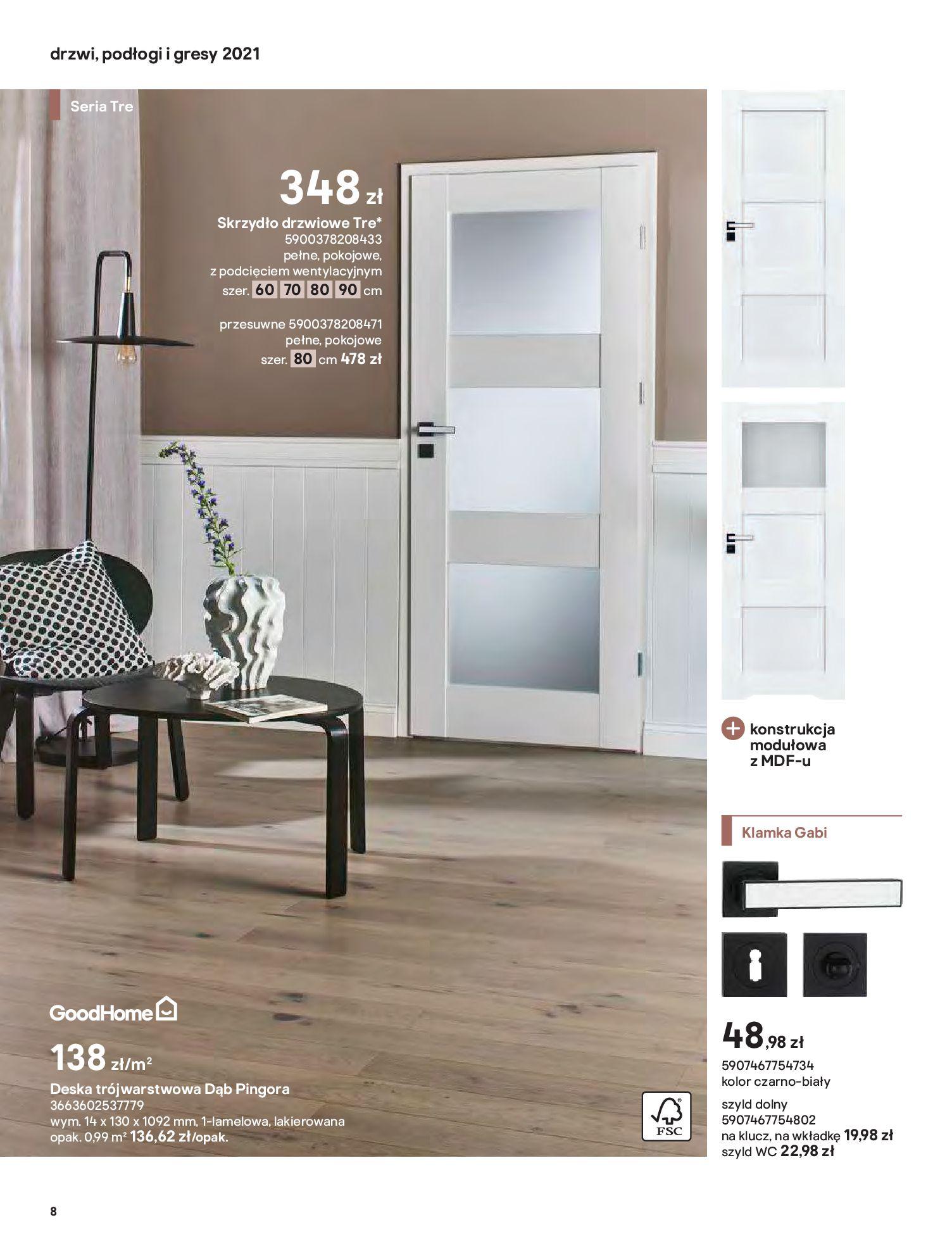 Gazetka Castorama: Gazetka Castorama - Przewodnik drzwi i podłogi 2021 2021-08-11 page-8