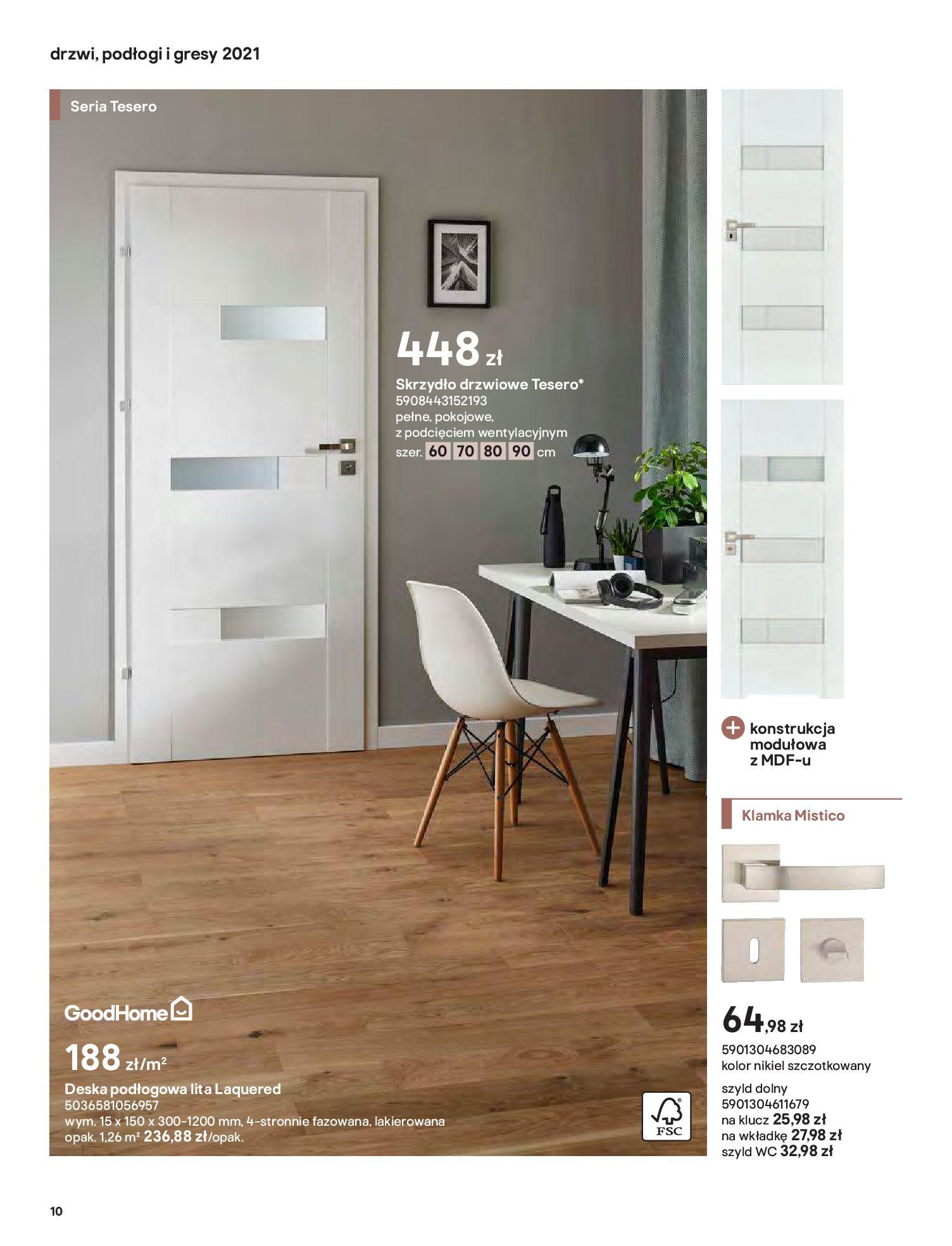 Gazetka Castorama: Gazetka Castorama - Przewodnik drzwi i podłogi 2021 2021-08-11 page-10
