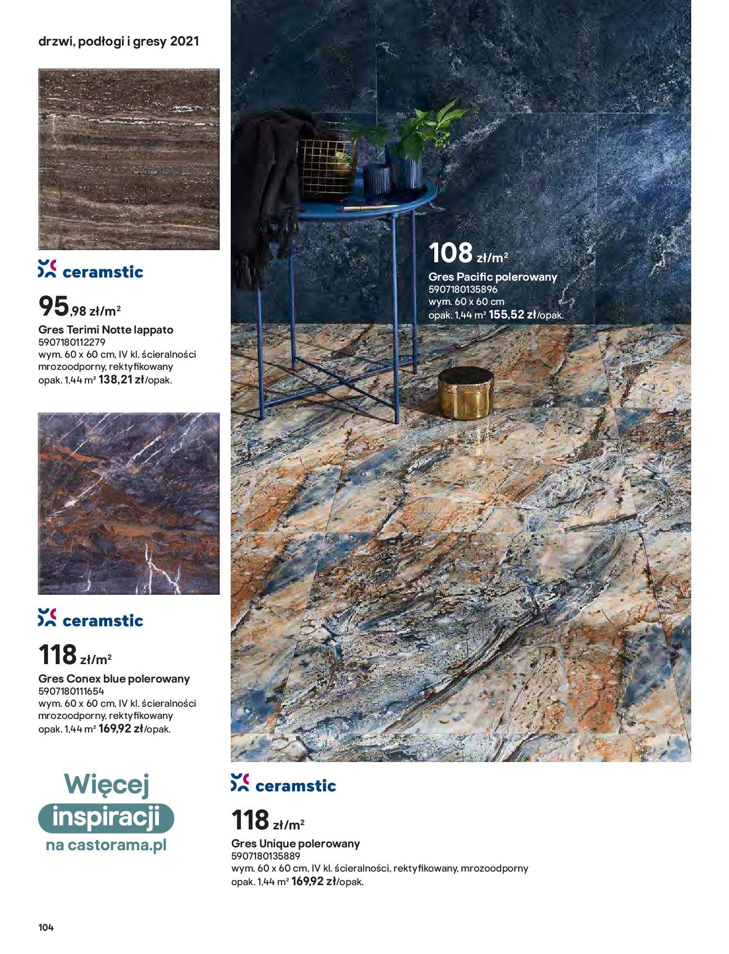 Gazetka Castorama: Gazetka Castorama - Przewodnik drzwi i podłogi 2021 2021-08-11 page-104