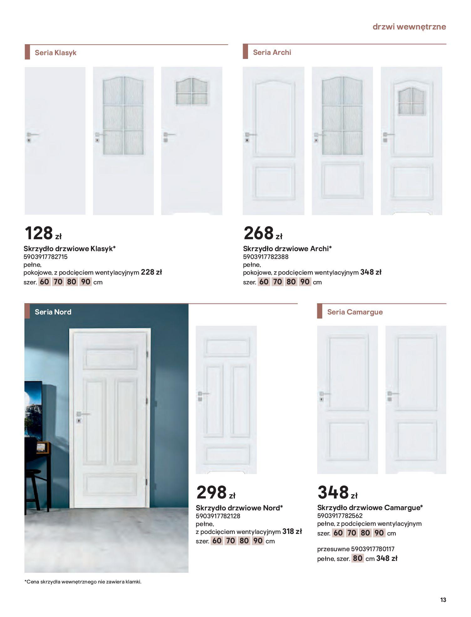 Gazetka Castorama: Gazetka Castorama - Przewodnik drzwi i podłogi 2021 2021-08-11 page-13