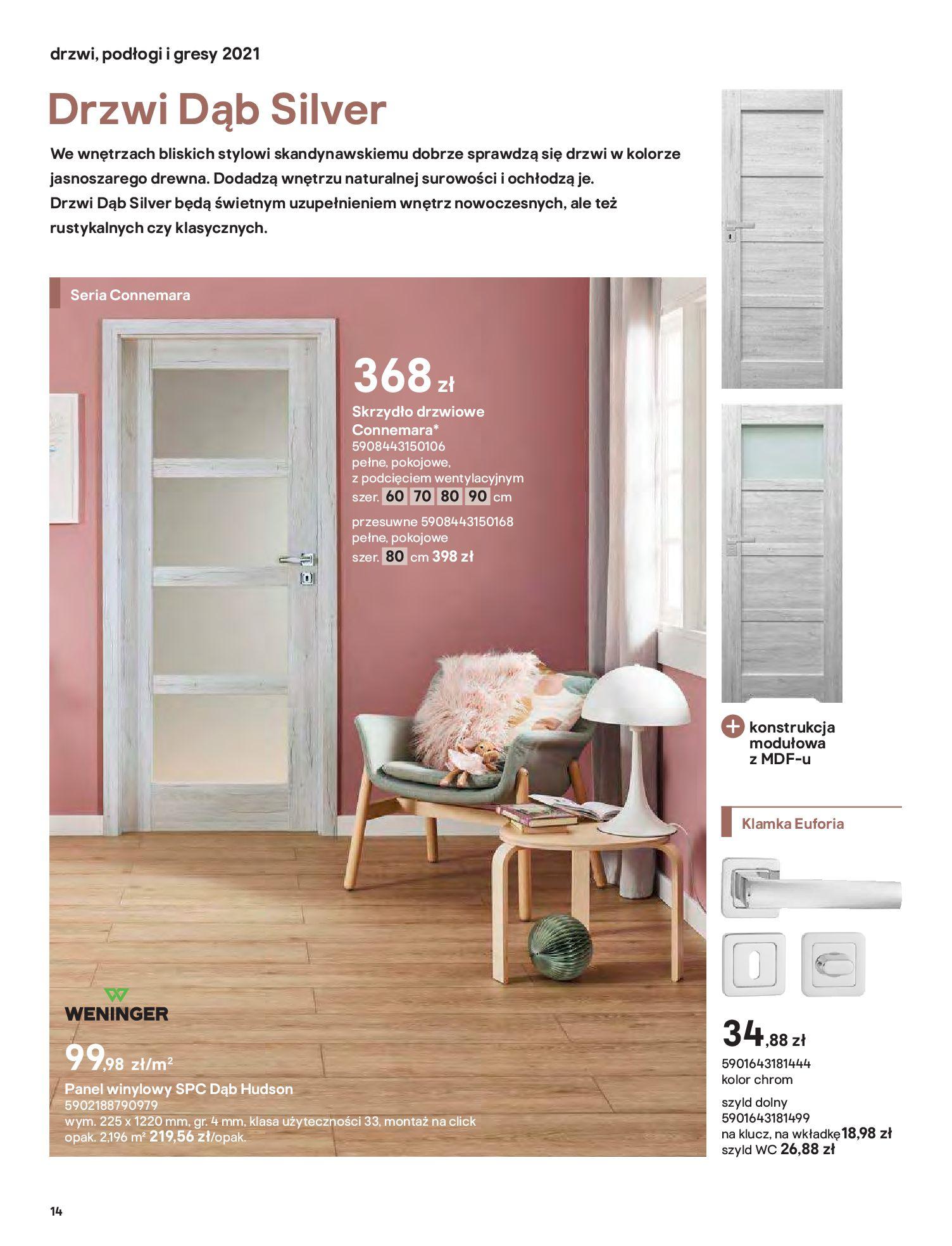 Gazetka Castorama: Gazetka Castorama - Przewodnik drzwi i podłogi 2021 2021-08-11 page-14