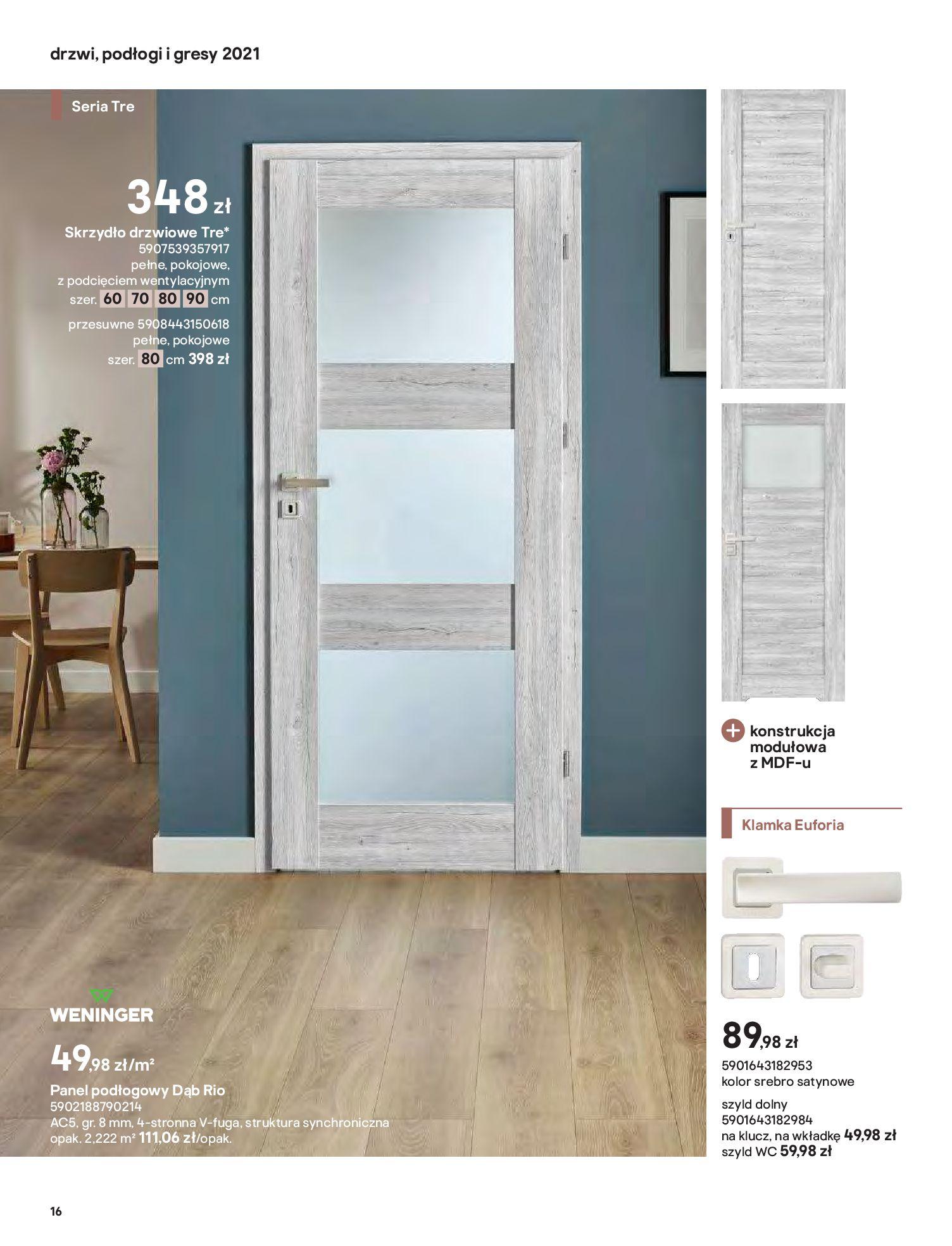Gazetka Castorama: Gazetka Castorama - Przewodnik drzwi i podłogi 2021 2021-08-11 page-16