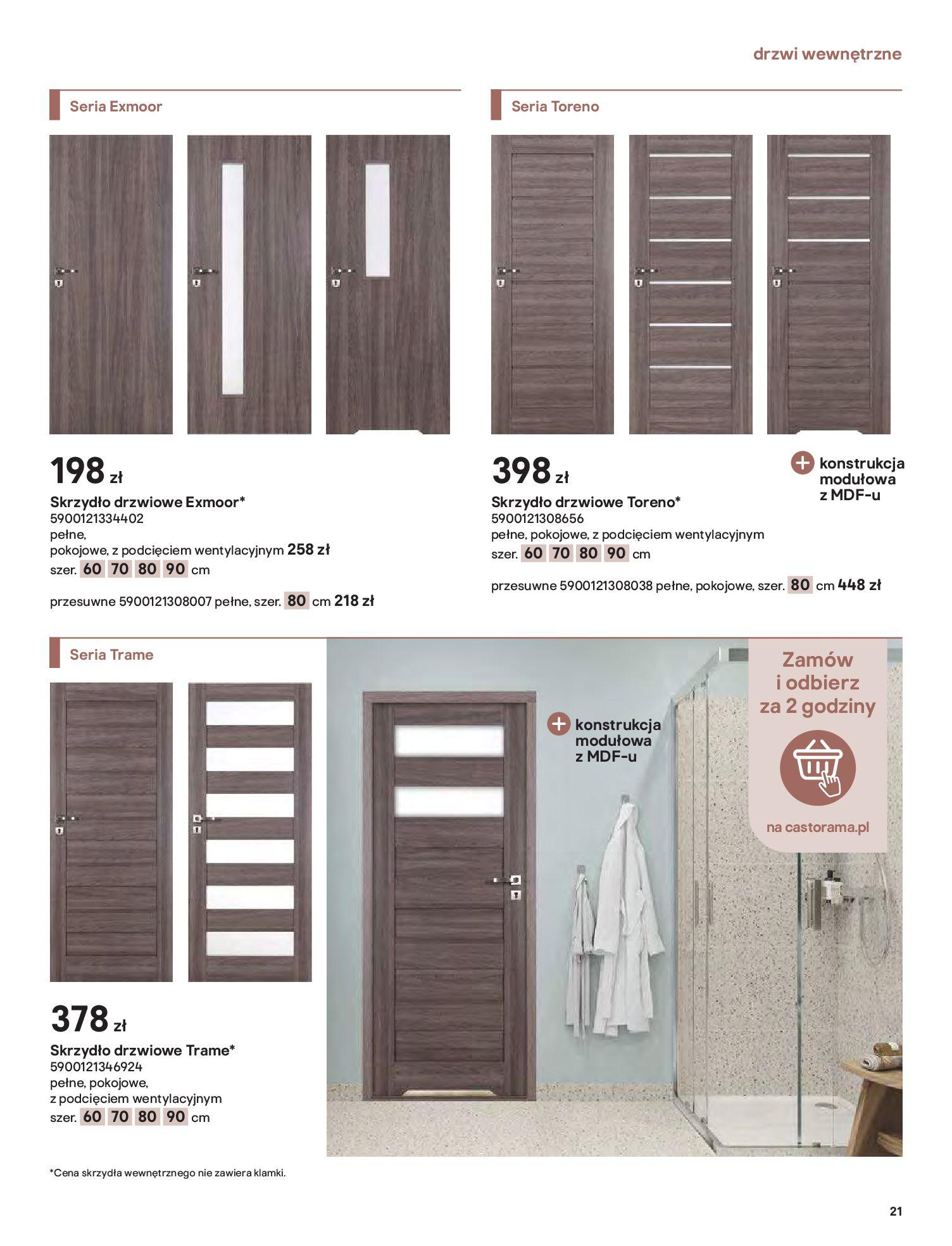 Gazetka Castorama: Gazetka Castorama - Przewodnik drzwi i podłogi 2021 2021-08-11 page-21
