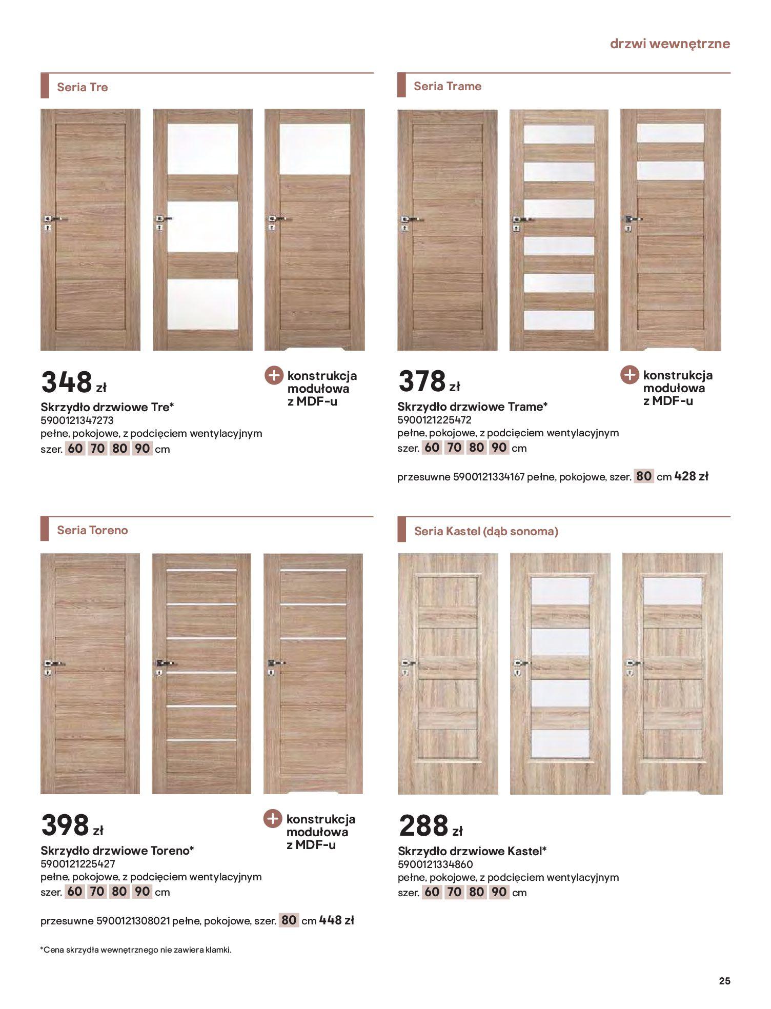 Gazetka Castorama: Gazetka Castorama - Przewodnik drzwi i podłogi 2021 2021-08-11 page-25