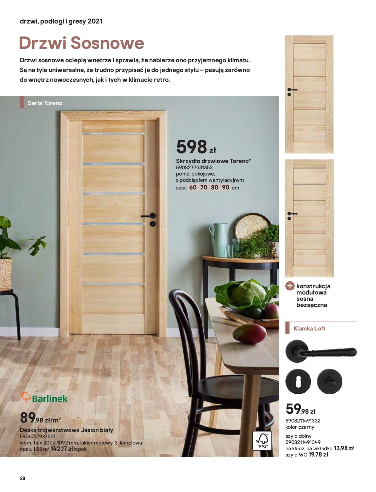 Gazetka Castorama: Gazetka Castorama - Przewodnik drzwi i podłogi 2021 2021-08-11 page-28