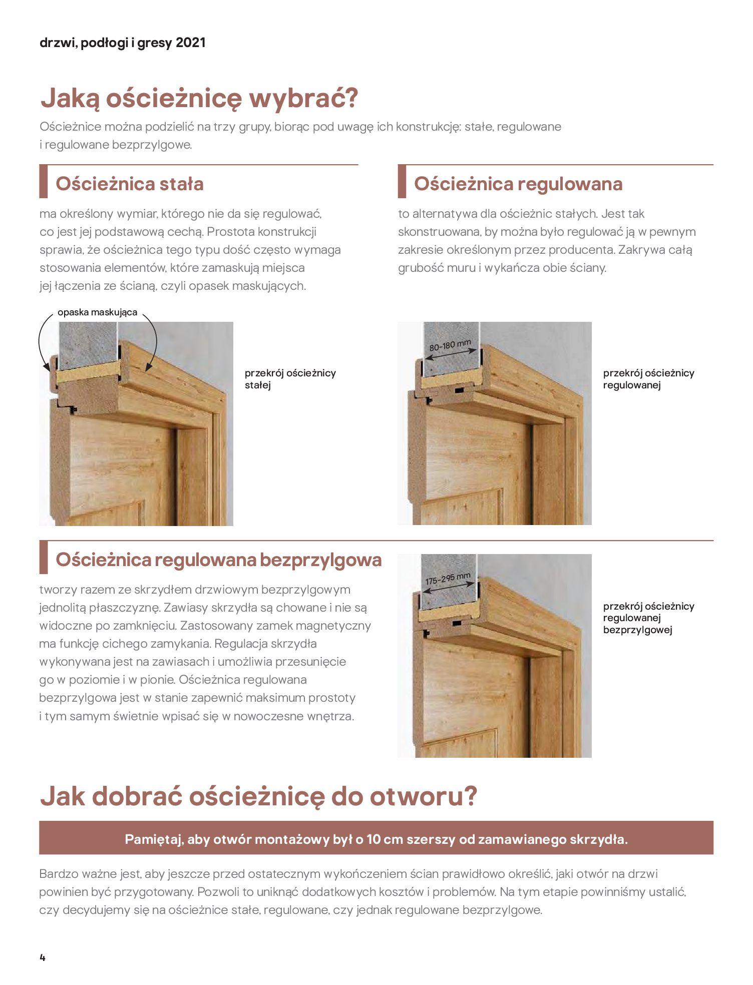 Gazetka Castorama: Gazetka Castorama - Przewodnik drzwi i podłogi 2021 2021-08-11 page-4