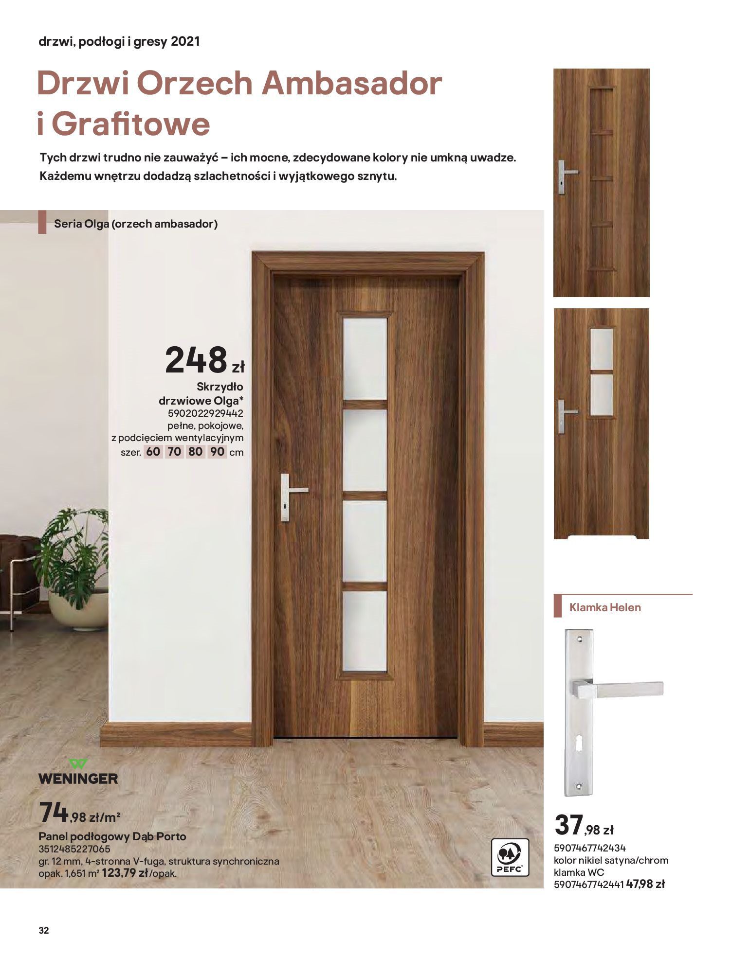 Gazetka Castorama: Gazetka Castorama - Przewodnik drzwi i podłogi 2021 2021-08-11 page-32