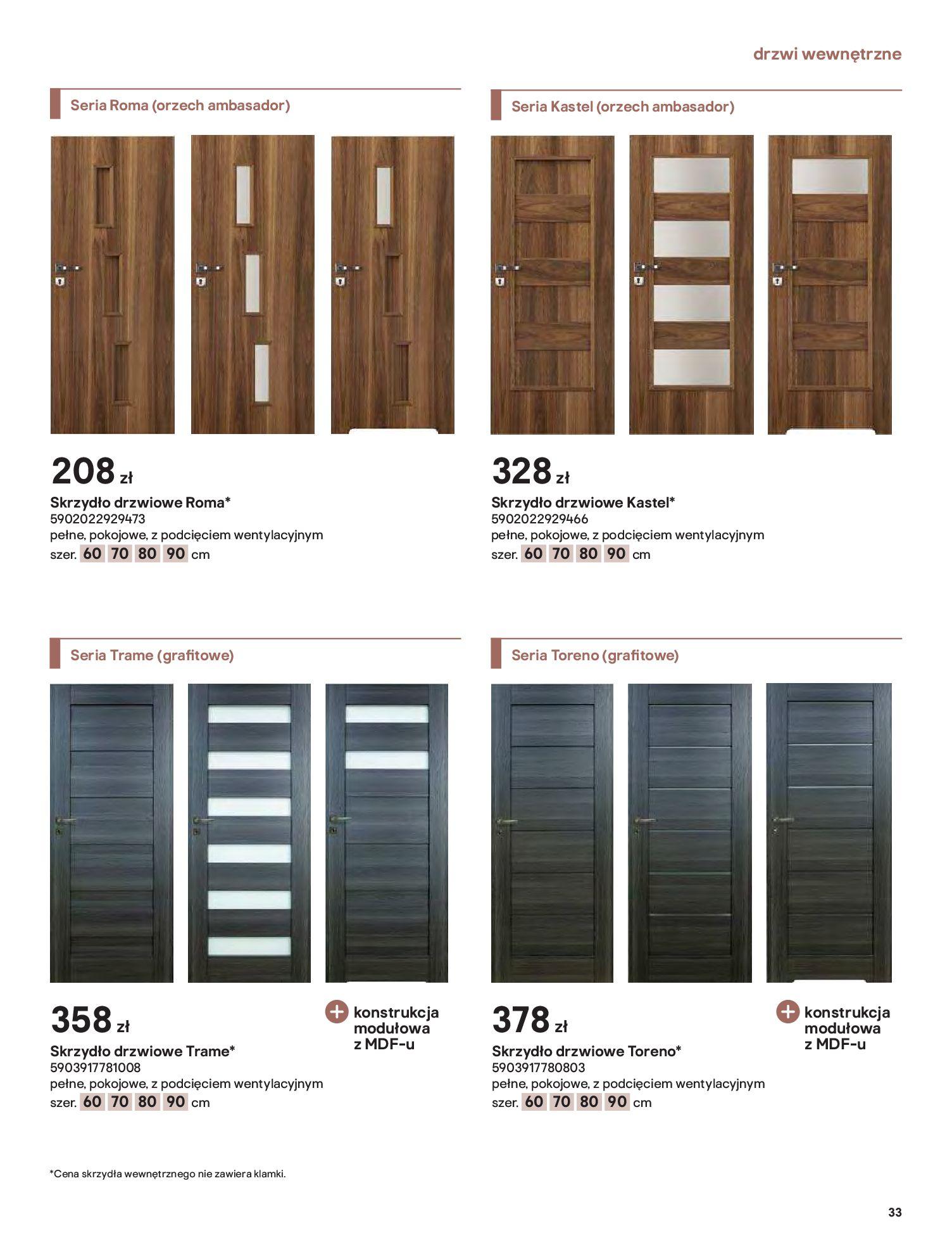Gazetka Castorama: Gazetka Castorama - Przewodnik drzwi i podłogi 2021 2021-08-11 page-33