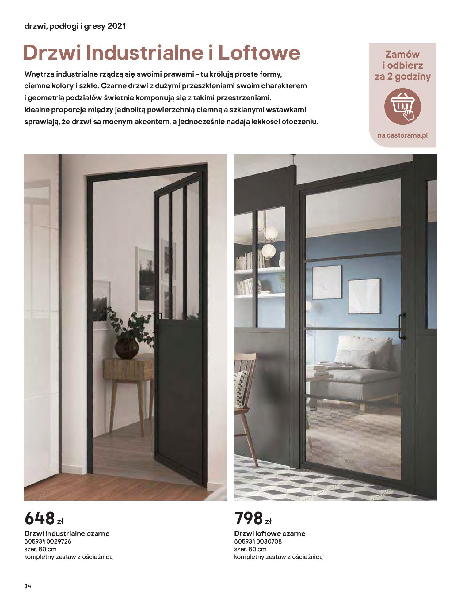 Gazetka Castorama: Gazetka Castorama - Przewodnik drzwi i podłogi 2021 2021-08-11 page-34