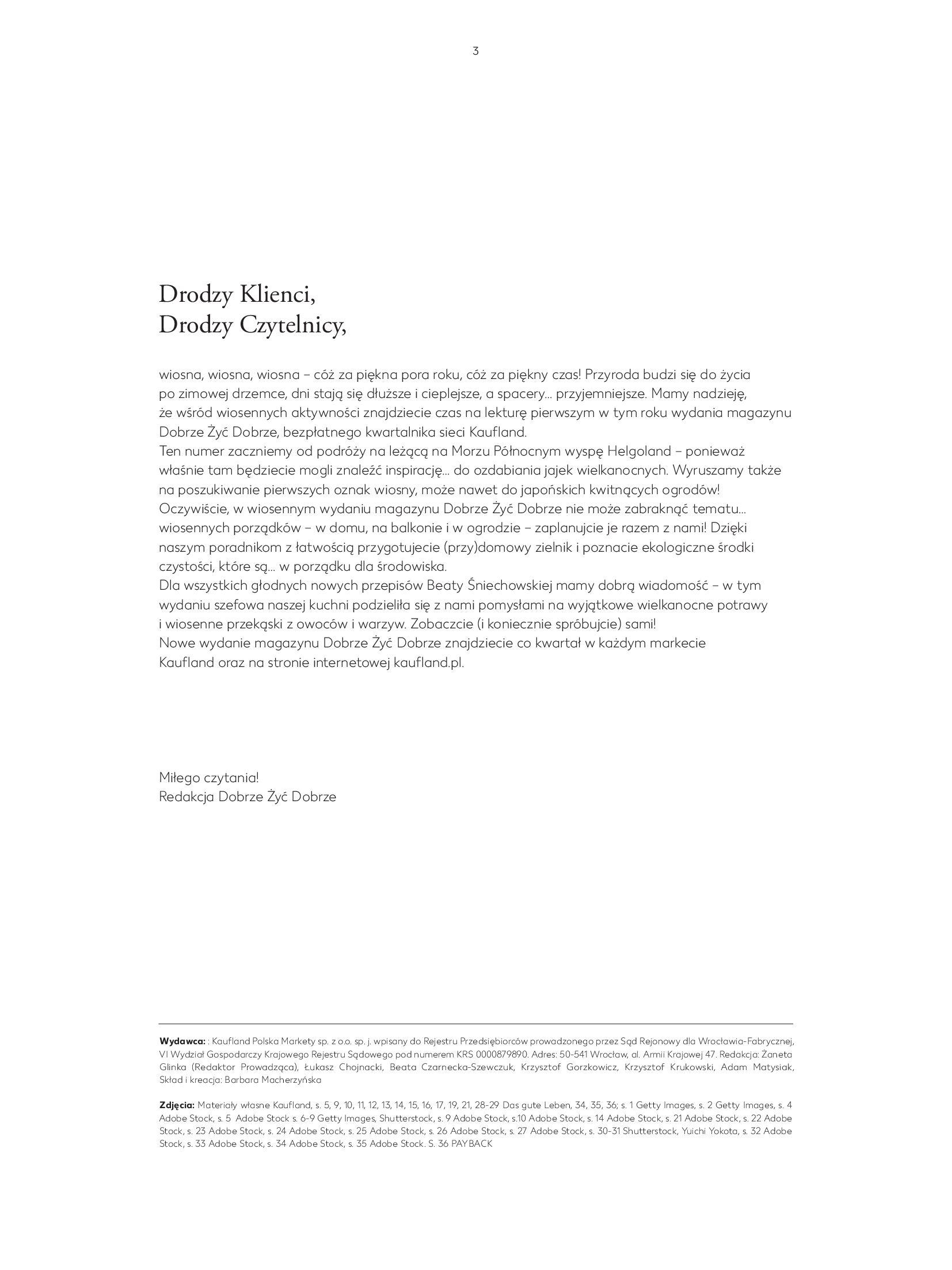 """Gazetka Kaufland: Magazyn """"Dobrze żyć dobrze"""" 2021-02-24 page-3"""