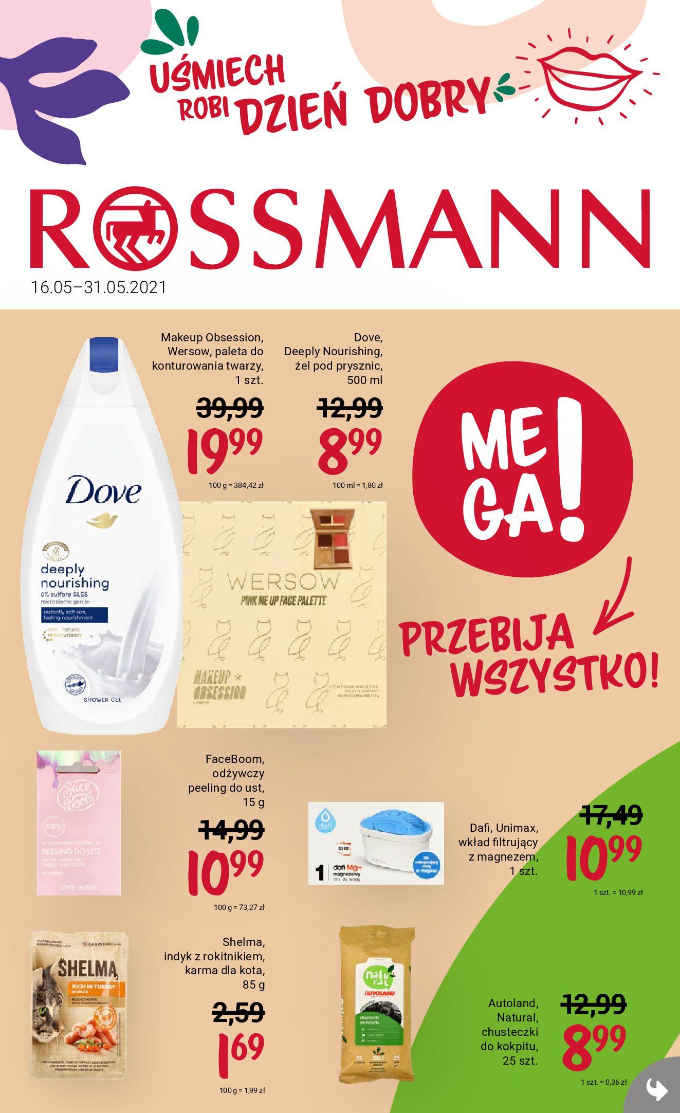 Rossmann:  Gazetka Rossmann Uśmiech robi Dobry Dzień 15.05.2021