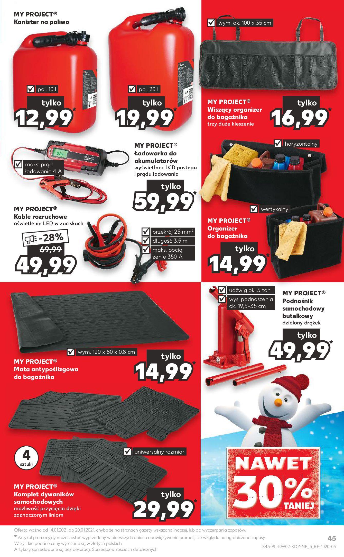 Gazetka Kaufland: Gazetka promocyjna od 13.01 2021-01-14 page-45