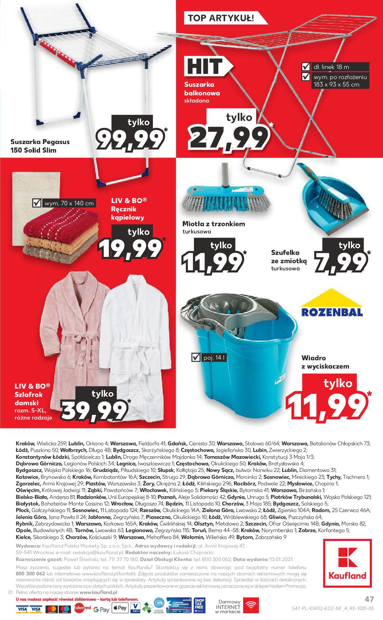 Gazetka Kaufland: Gazetka promocyjna od 13.01 2021-01-14 page-47