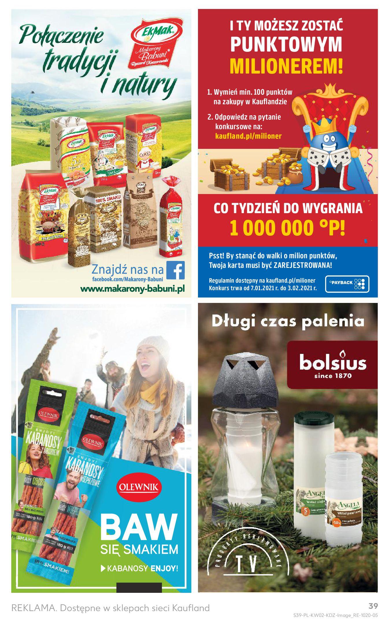 Gazetka Kaufland: Gazetka promocyjna od 13.01 2021-01-14 page-39