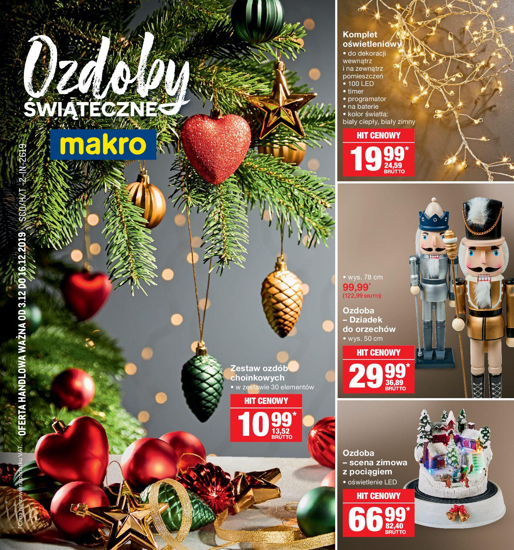 Gazetka Makro - Ozdoby świąteczne-02.12.2019-16.12.2019-page-1