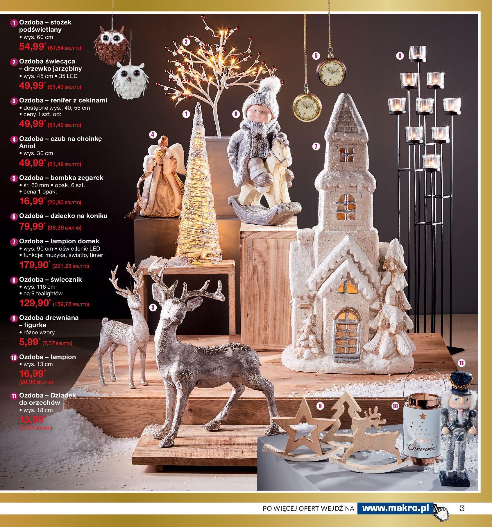 Gazetka Makro - Ozdoby świąteczne-02.12.2019-16.12.2019-page-3