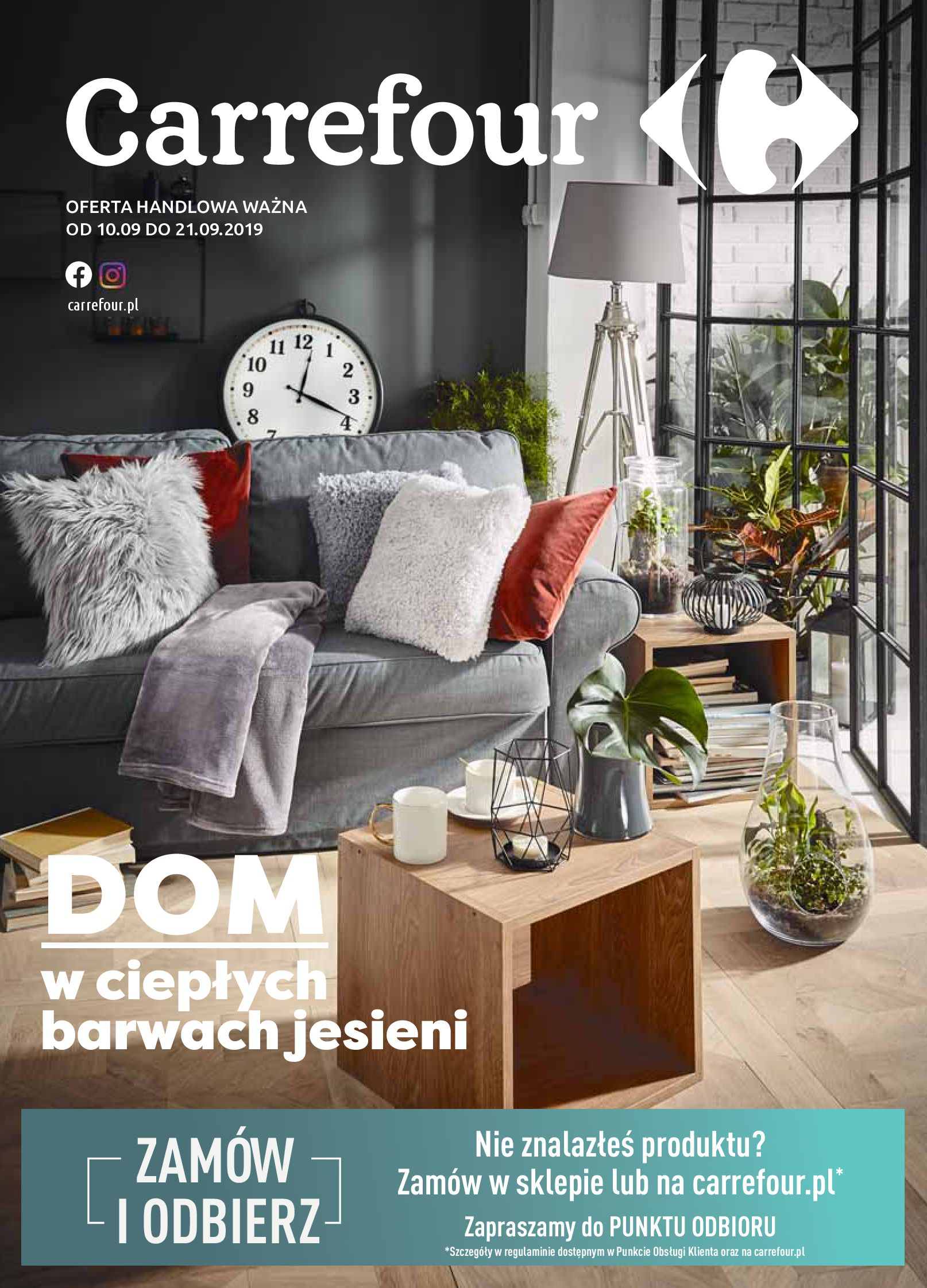 Gazetka Carrefour - Dom w ciepłych barwach-09.09.2019-21.09.2019-page-1