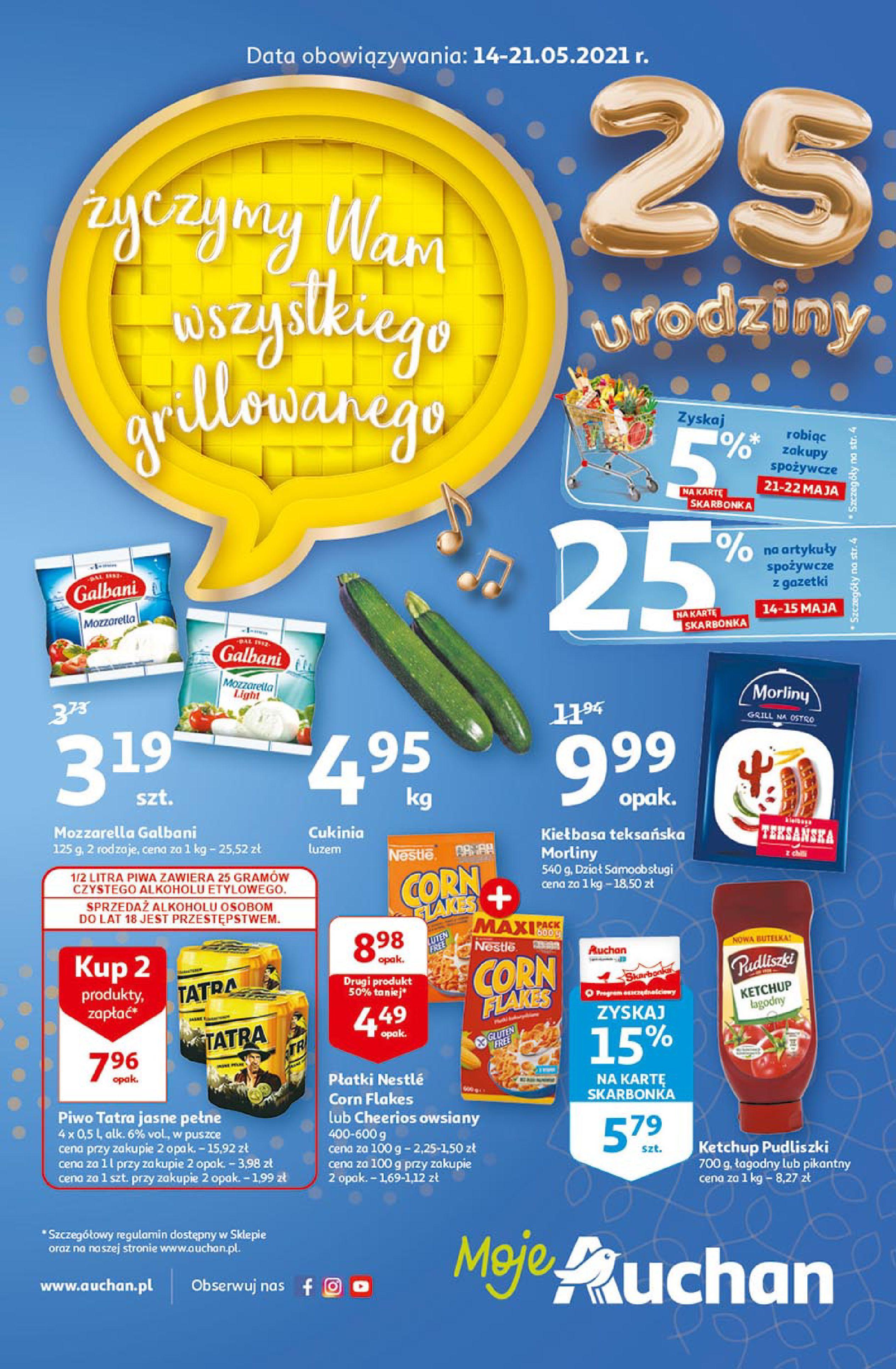 Auchan:  Gazetka Auchan - 14-21.05 13.05.2021