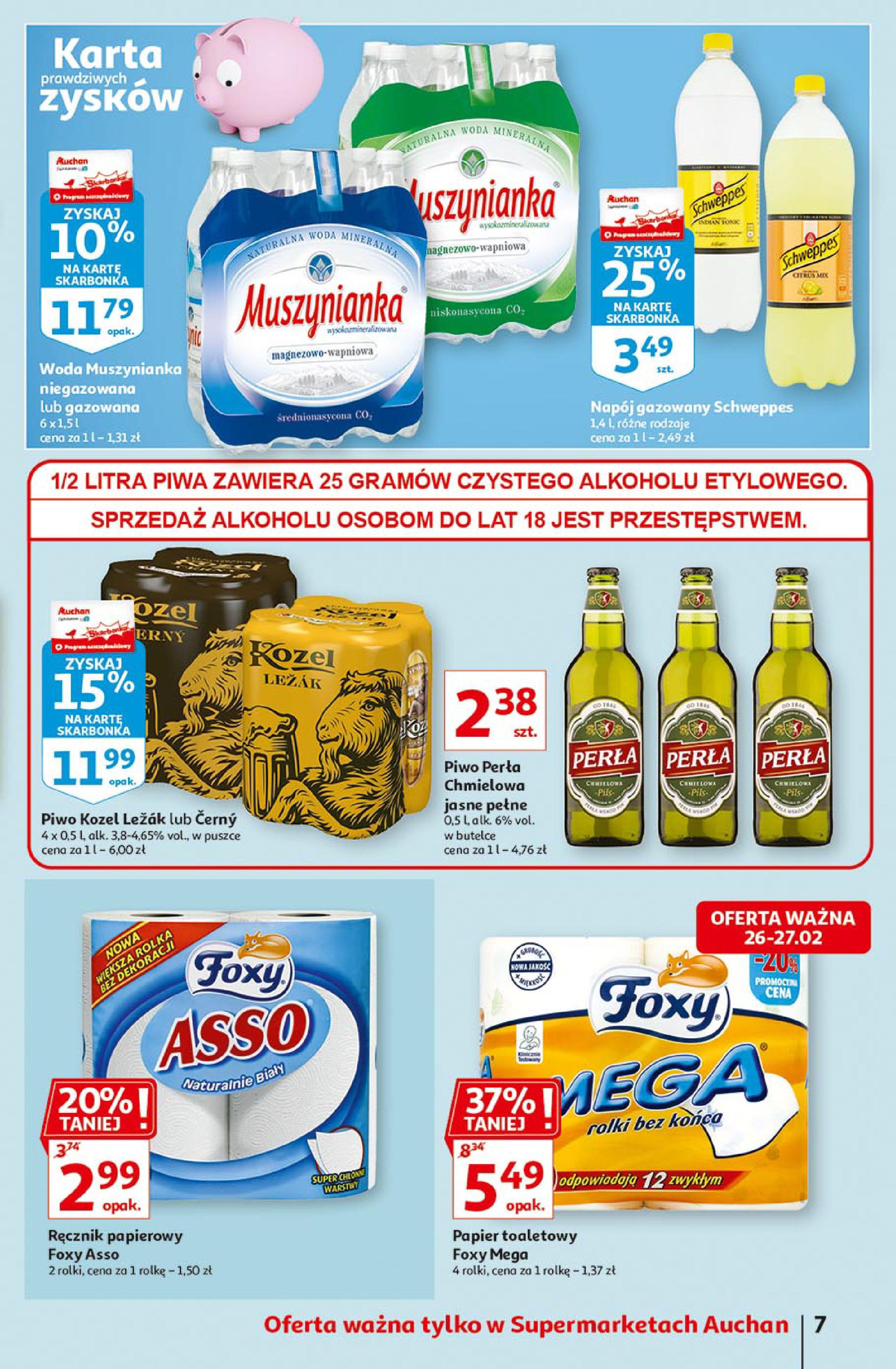 Gazetka Auchan: Uroda Supermarkety 2021-02-26 page-7