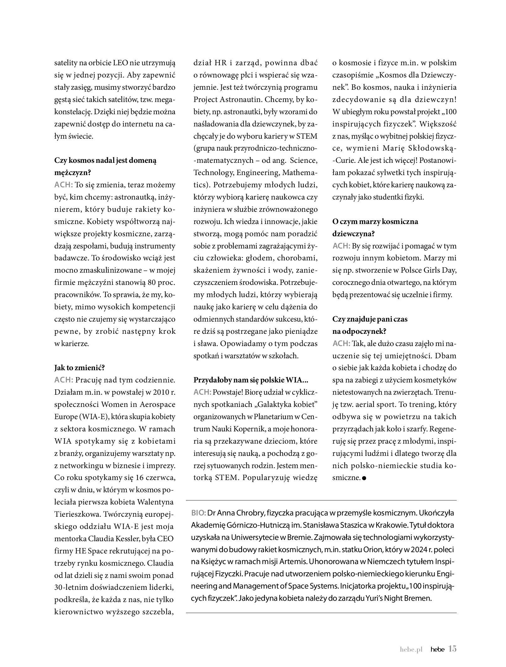 Gazetka hebe: Magazyn hebe 2021-03-11 page-15