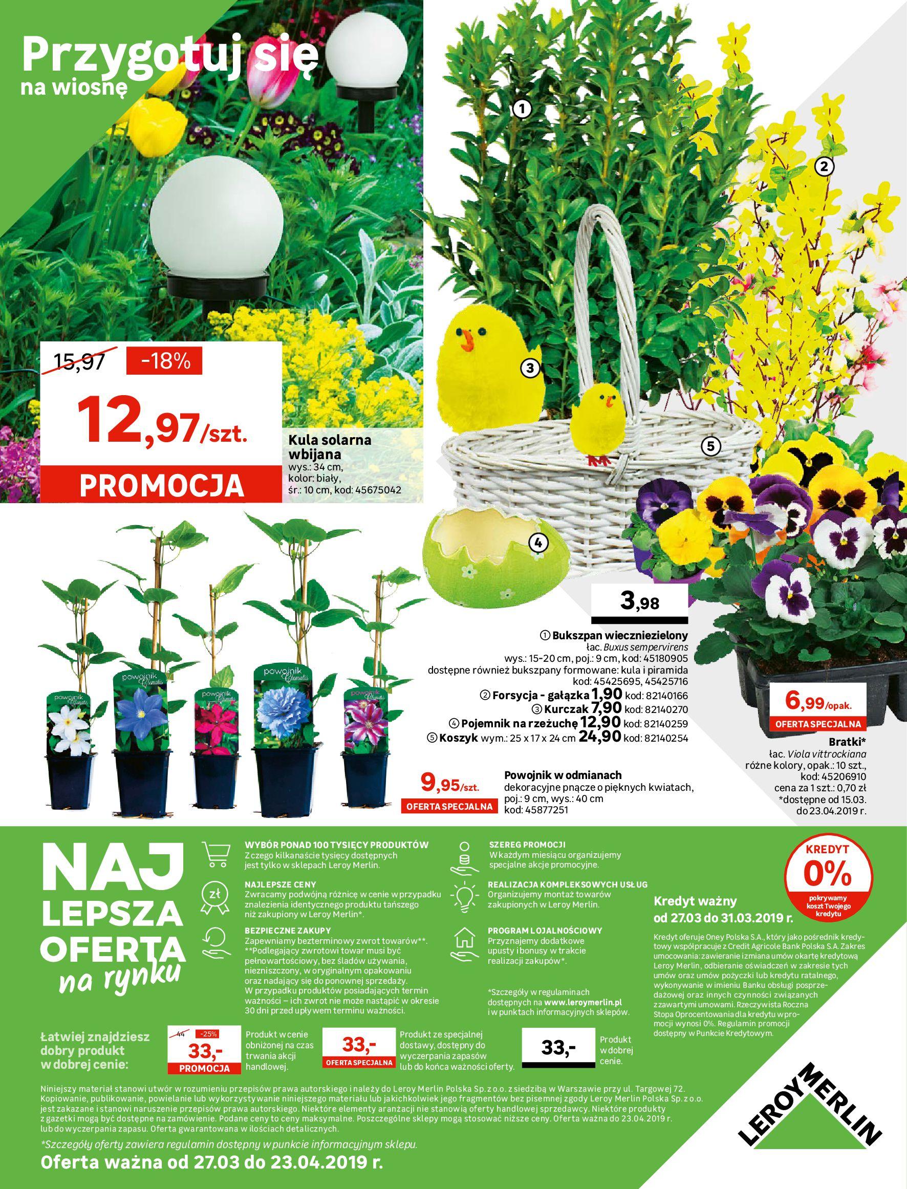 Gazetka Leroy Merlin - Relaks w ogrodzie-26.03.2019-23.04.2019-page-