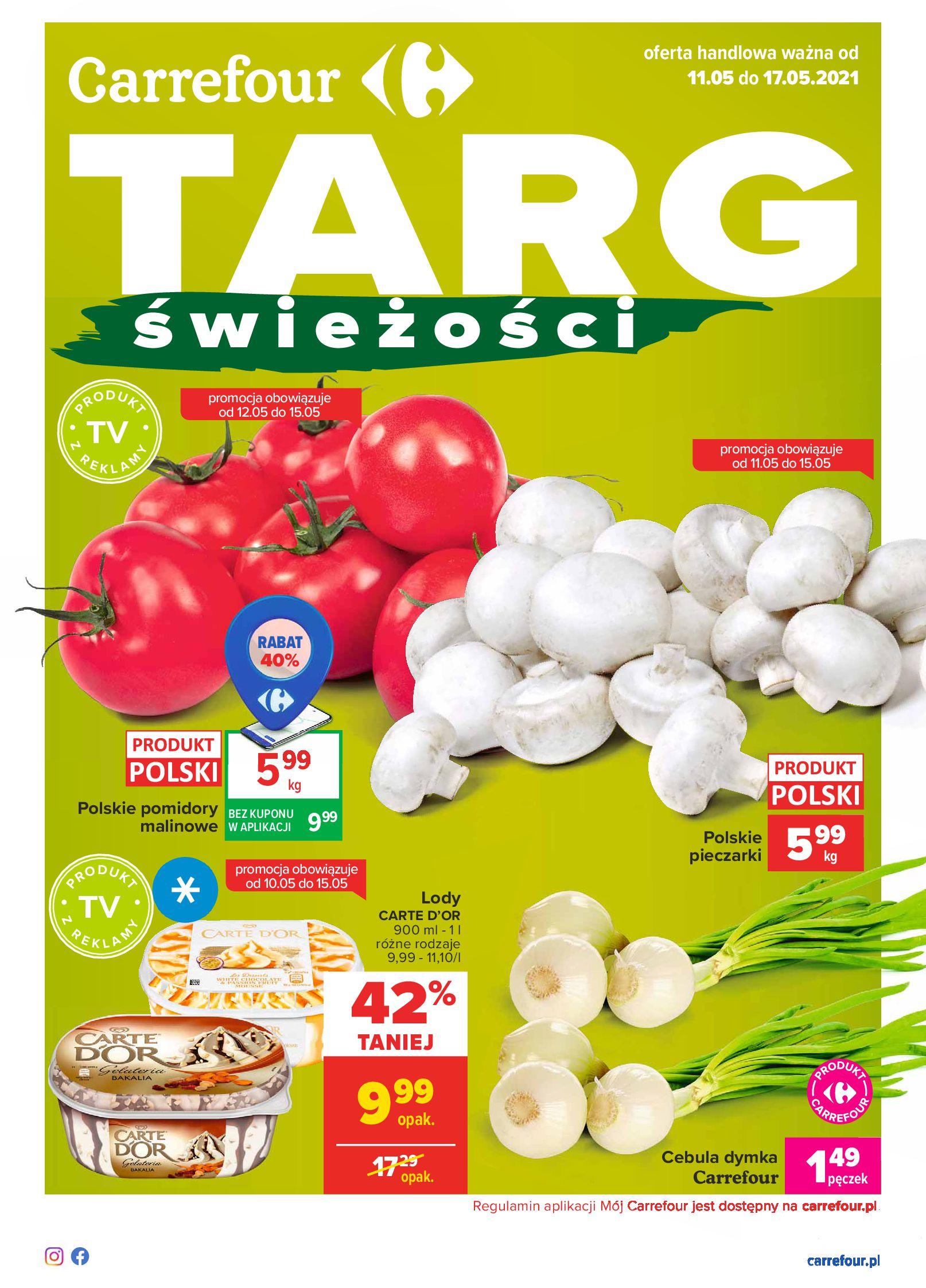 Carrefour:  Gazetka Carrefour - Targ świeżości 10.05.2021